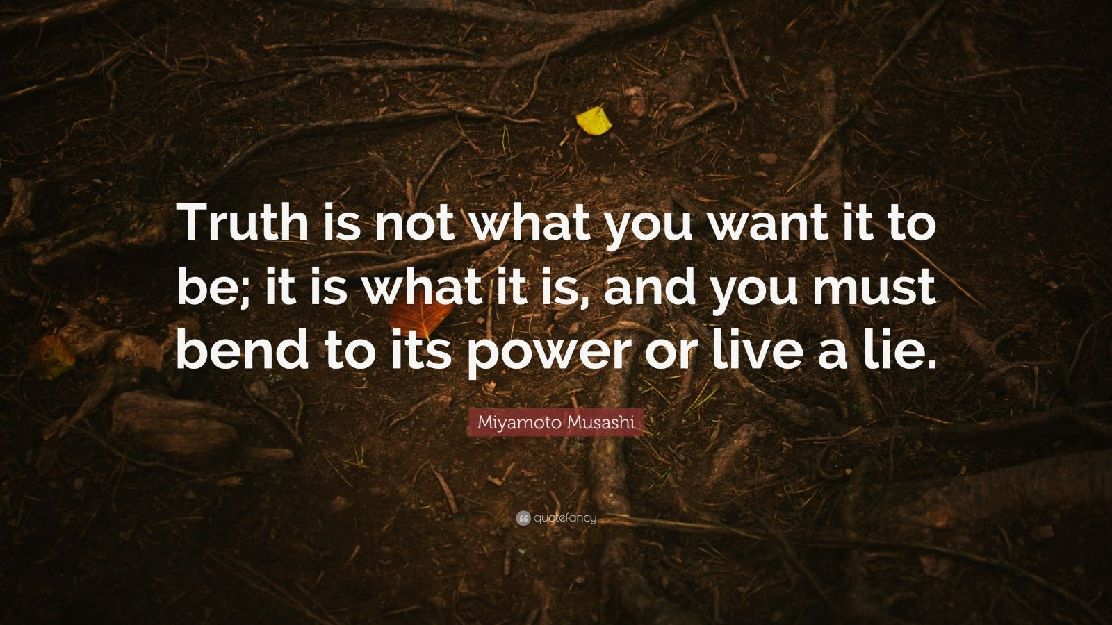 "Miyamoto Musashi Quote: ""Truth Is Not What You Want It To"