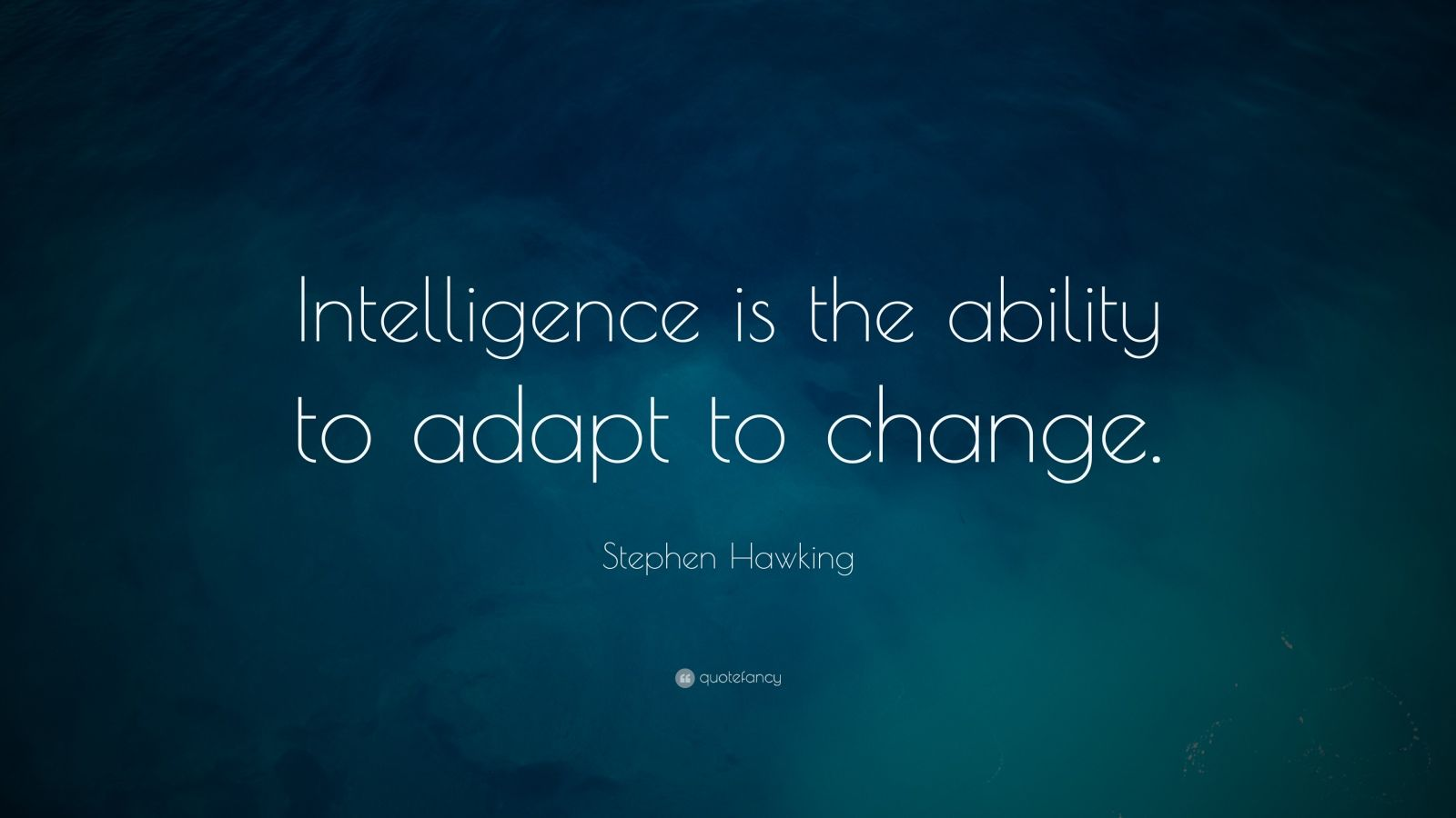 Stephen Hawking Is the Ability to Adapt to Change Intelligence