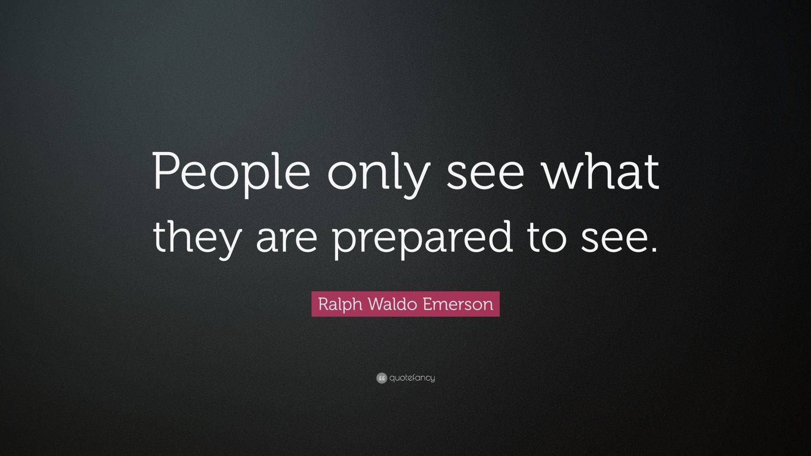 people only see what they are prepared to see