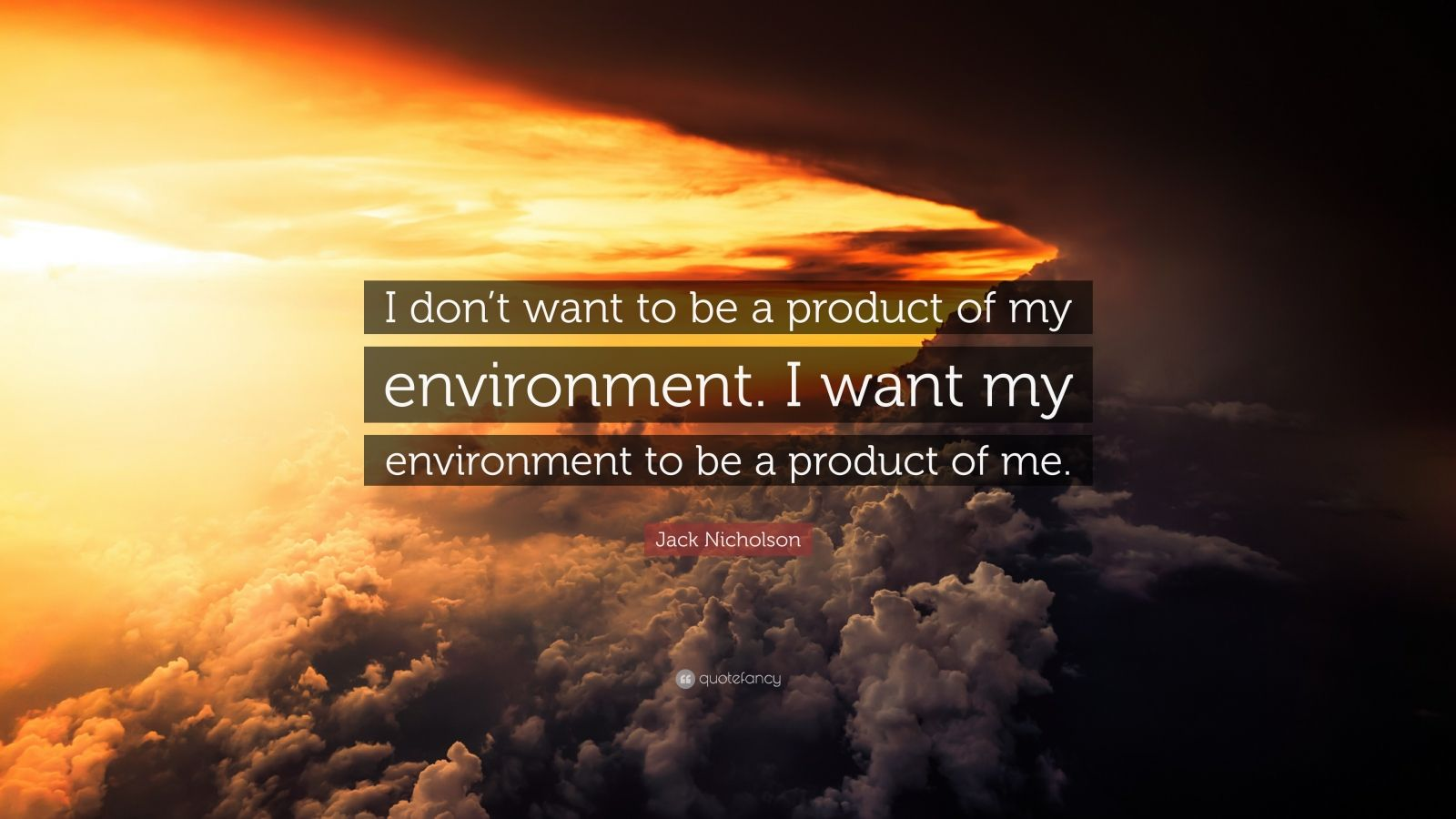 my environment