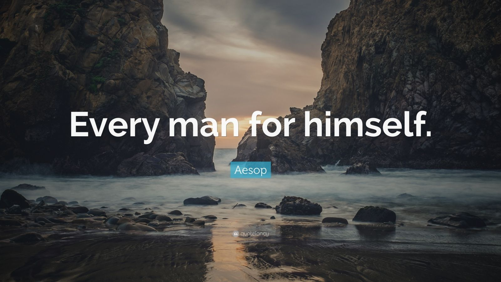 """Aesop Quote: """"Every man for himself."""""""