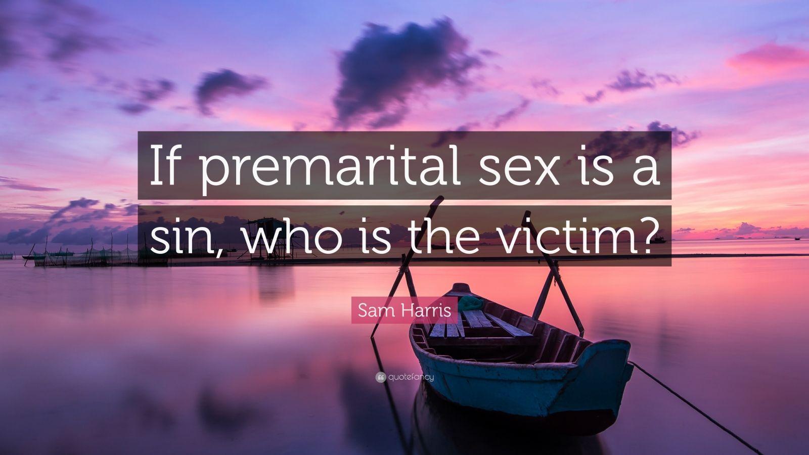 Premarital sex is a sin
