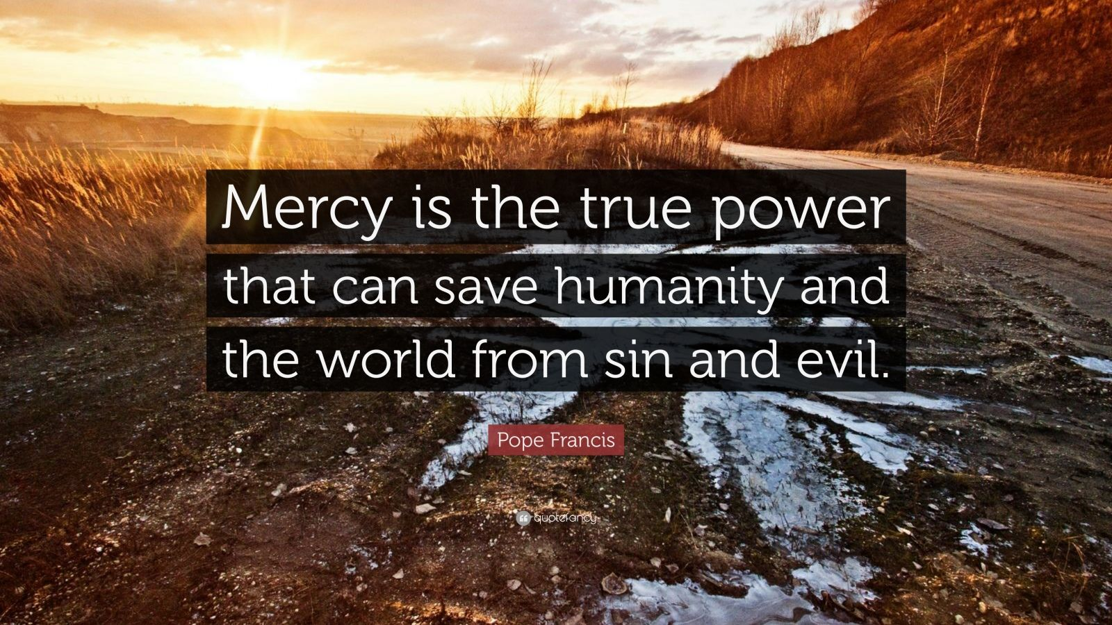 """Pope Francis Quote: """"Mercy is the true power that can save humanity and the world from sin and evil."""""""