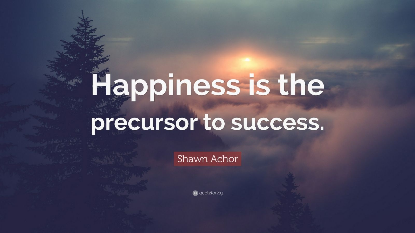 "Shawn Achor Quote: ""Happiness is the precursor to success."""