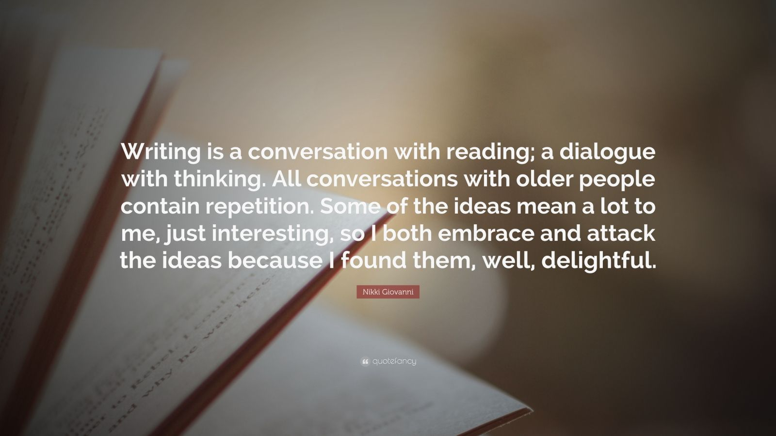 conversation quote essay Talking texts: writing dialogue in the college composition classroom by: john levine publication: the quarterly, vol 24, no 2 date: spring 2002 summary: is it possible for an inexperienced writer to juggle the ideas of several authors to create a coherent, analytical essay.