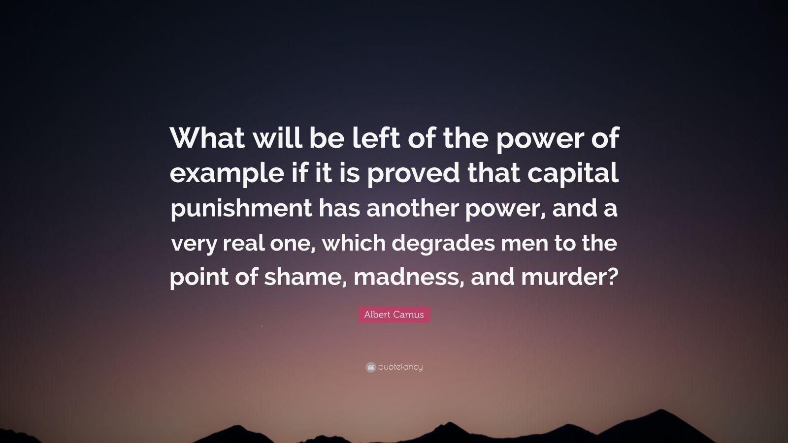 albert camus essay on capital punishment