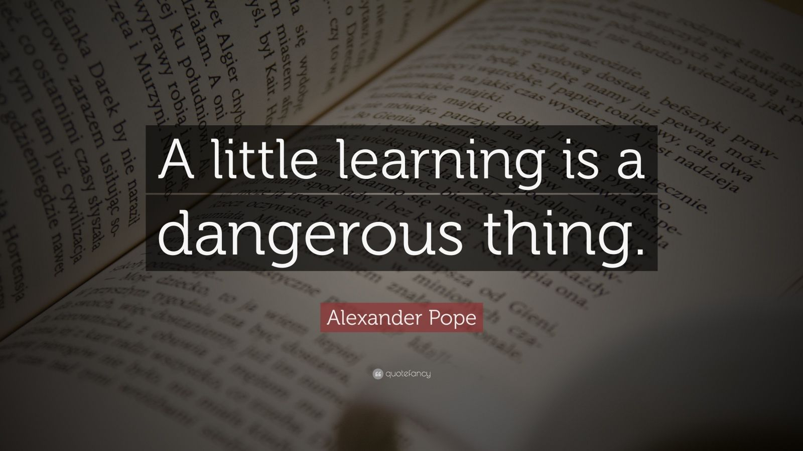 a little learning is a dangerous thing The romantic emphasis on the child's inner wisdom led to a corresponding de-emphasis on the acquisition of factual knowledge learning was thought to be a natural process and the child could.
