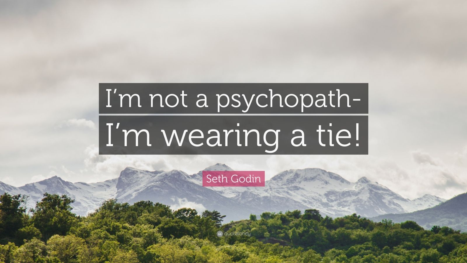 "Seth Godin Quote: ""I'm not a psychopath-I'm wearing a tie!"""