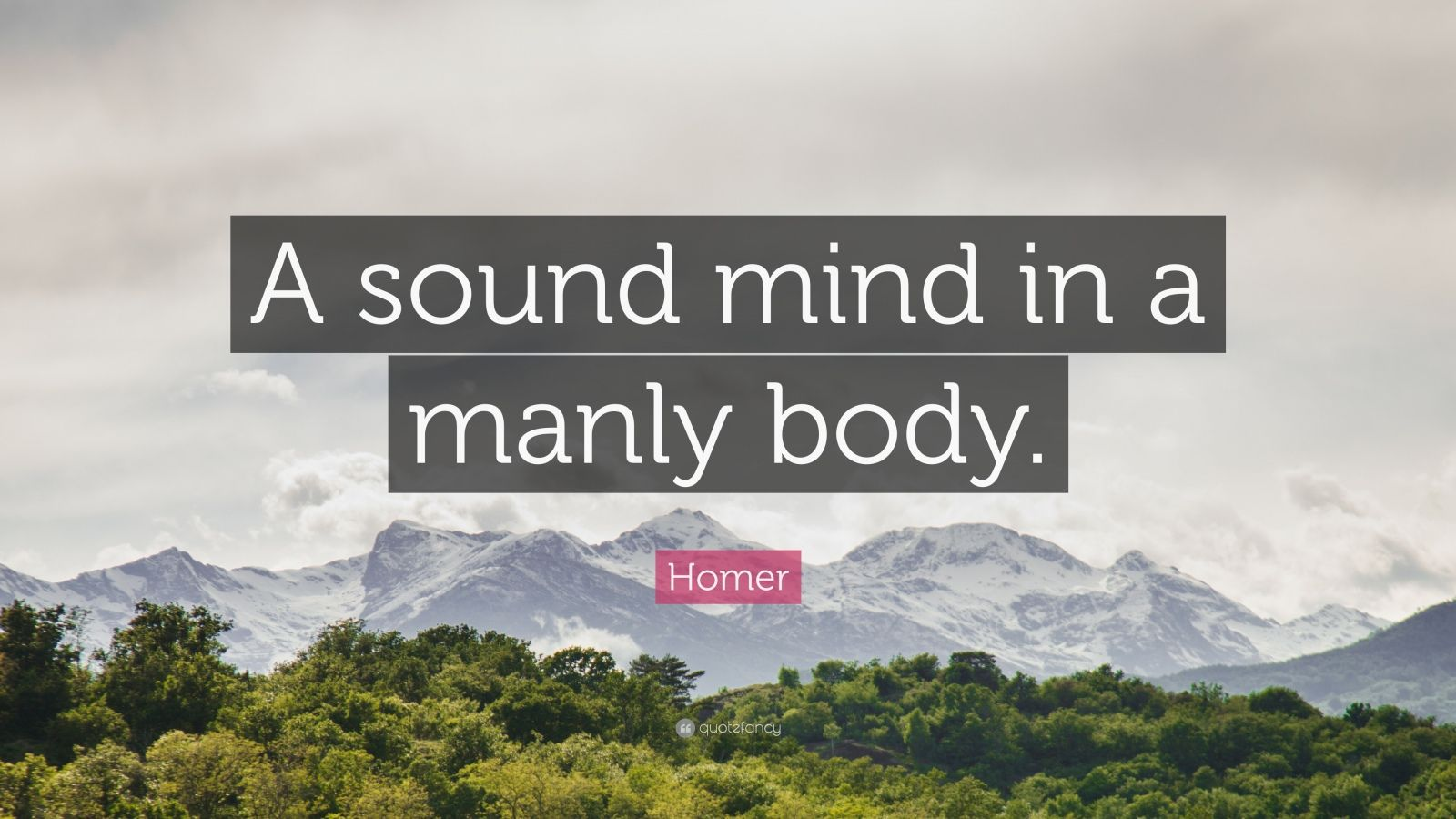 a sound mind in a sound body essay Since the inception of the sound mind sound body sports academy in 2004 parents, student-athletes coaches and the community at large have requested a year round.