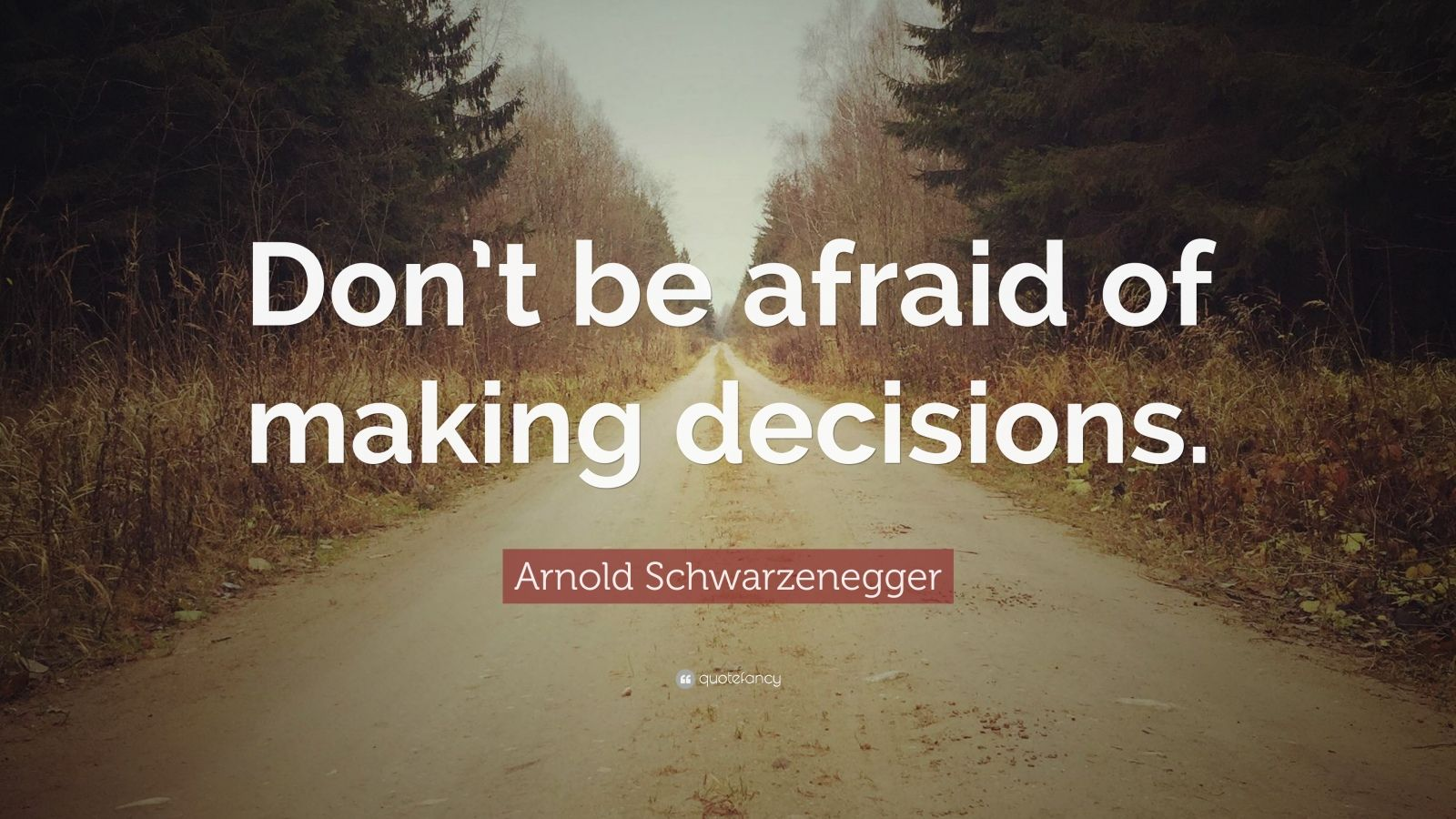 """Arnold Schwarzenegger Quote: """"Don't be afraid of making decisions."""""""