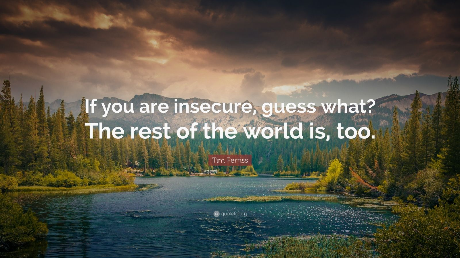 "Tim Ferriss Quote: ""If you are insecure, guess what? The rest of the world is, too."""