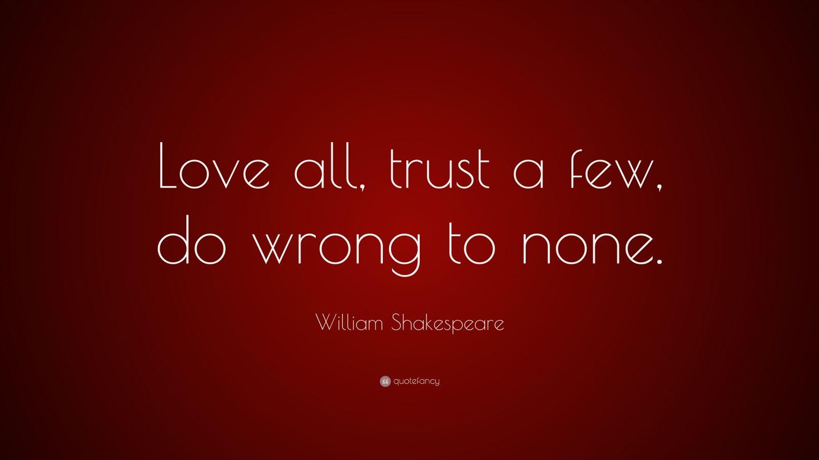 william shakespeare love every faith a new few