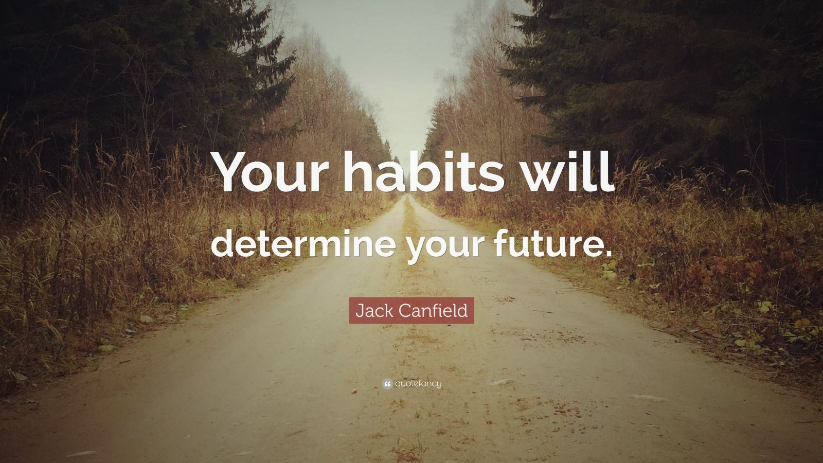 """Habit Quotes: """"Your habits will determine your future."""" — Jack Canfield"""