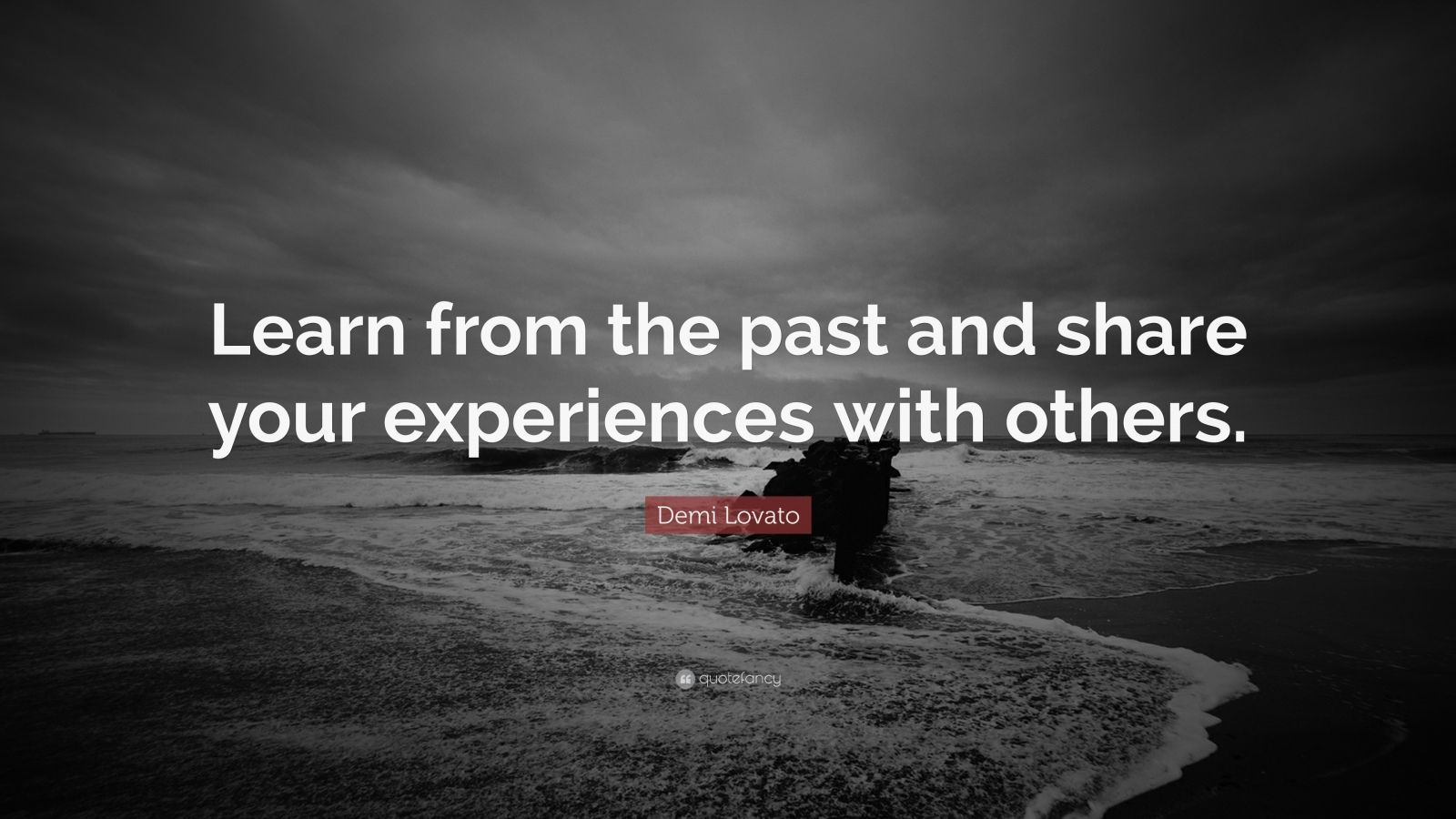 """Demi Lovato Quote: """"Learn from the past and share your experiences with others."""""""