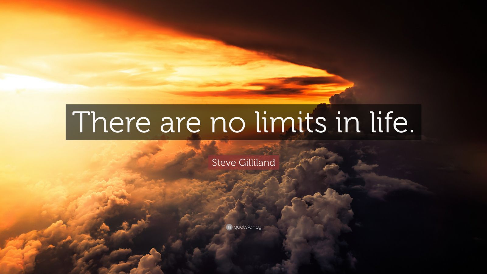 "Steve Gilliland Quote: ""There are no limits in life."""