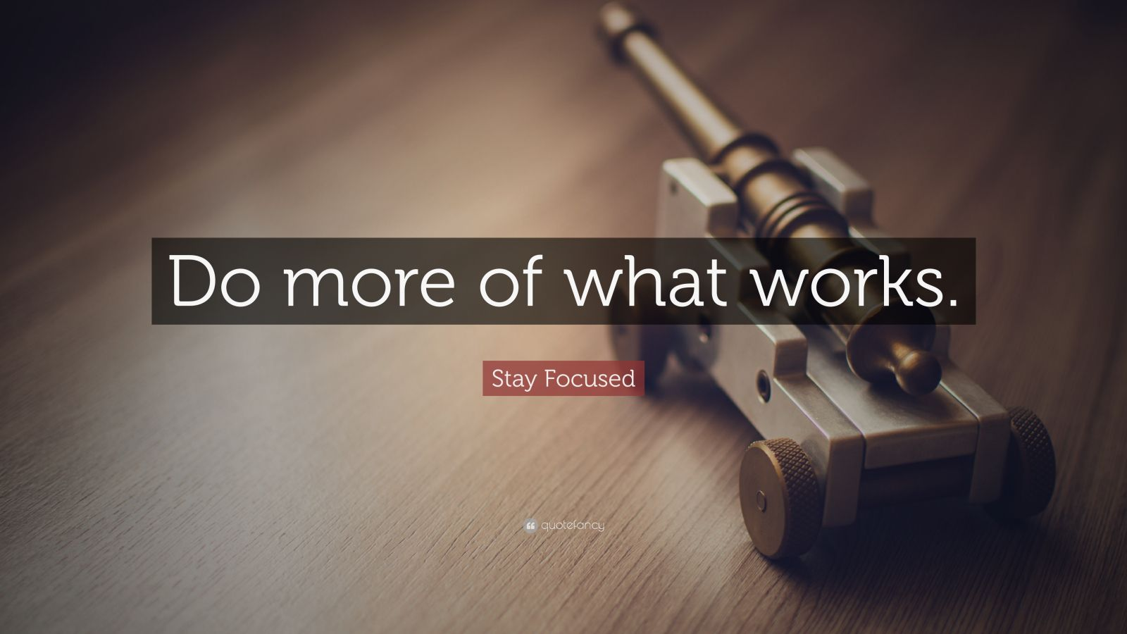 "Stay Focused Quote: ""Do more of what works."""