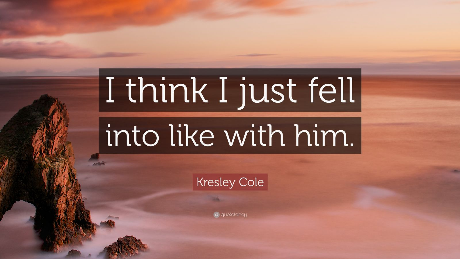 """Kresley Cole Quote: """"I think I just fell into like with ..."""