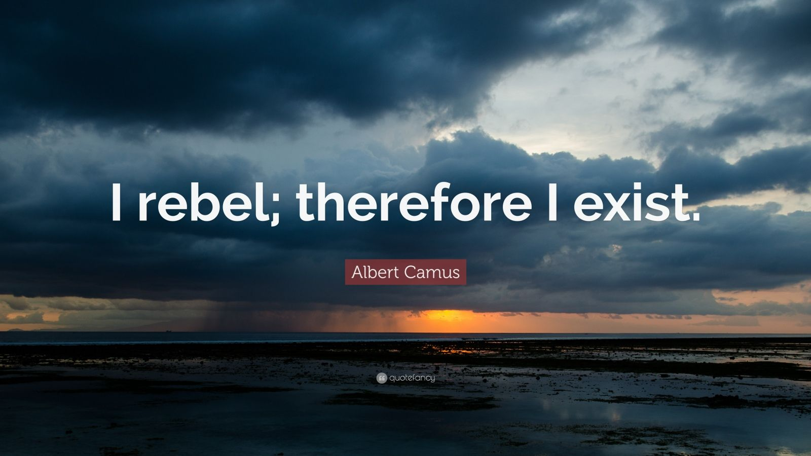 "Albert Camus Quote: ""I rebel; therefore I exist."""