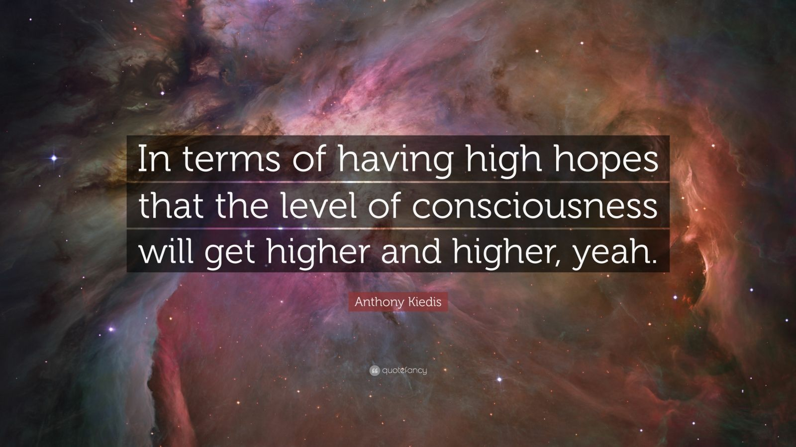 Anthony Kiedis Quote In Terms Of Having High Hopes That The Level