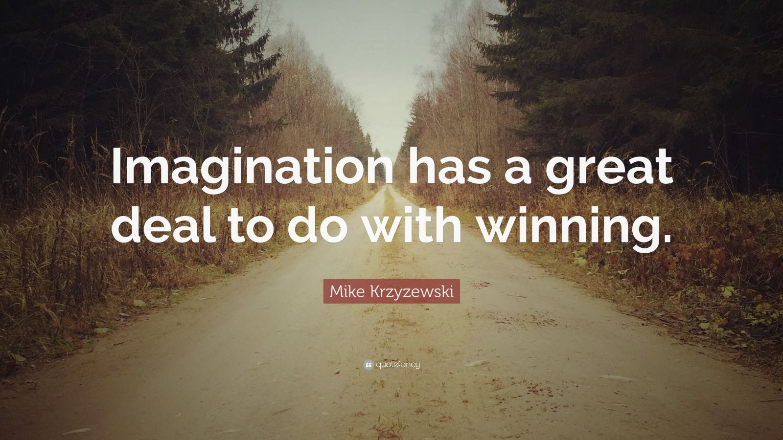 "Mike Krzyzewski Quote: ""Imagination has a great deal to do with winning."""