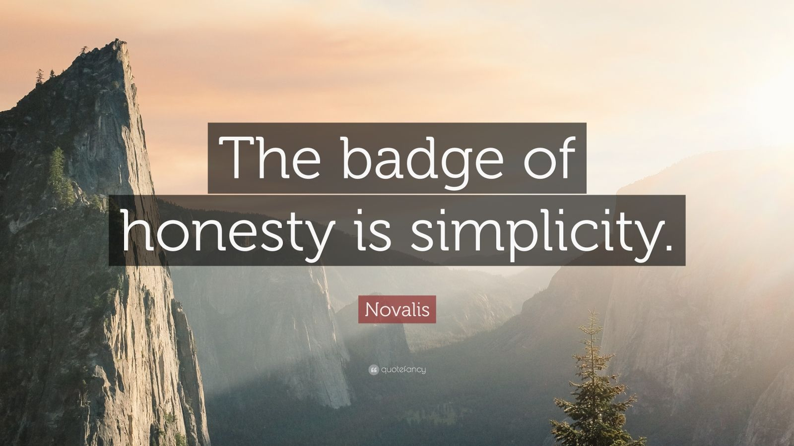 "Novalis Quote: ""The badge of honesty is simplicity."""