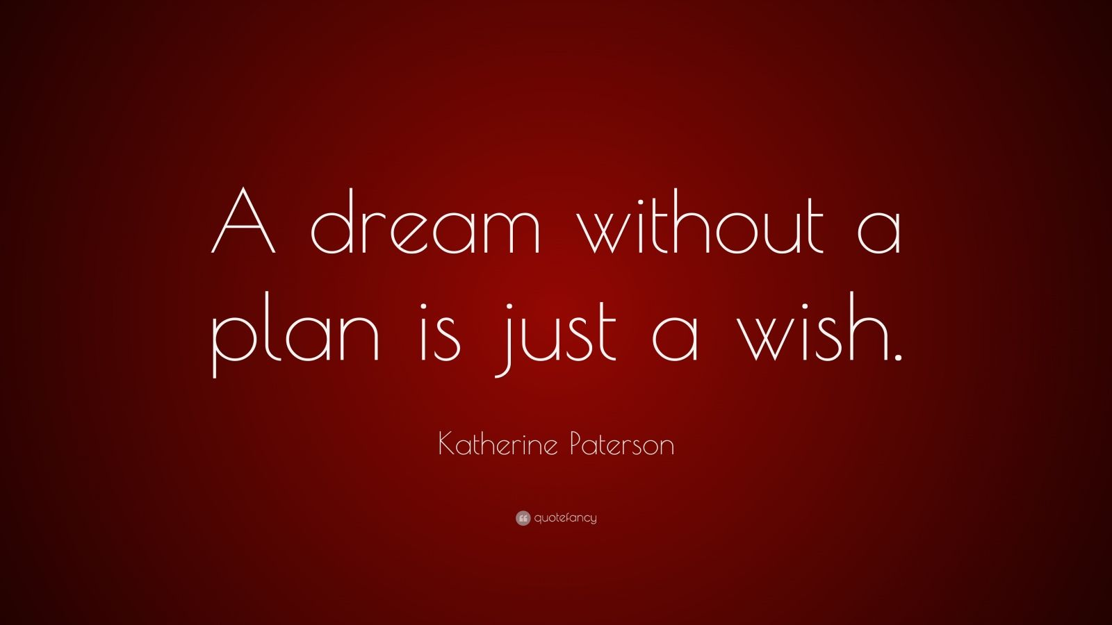 "Katherine Paterson Quote: ""A dream without a plan is just a wish."""