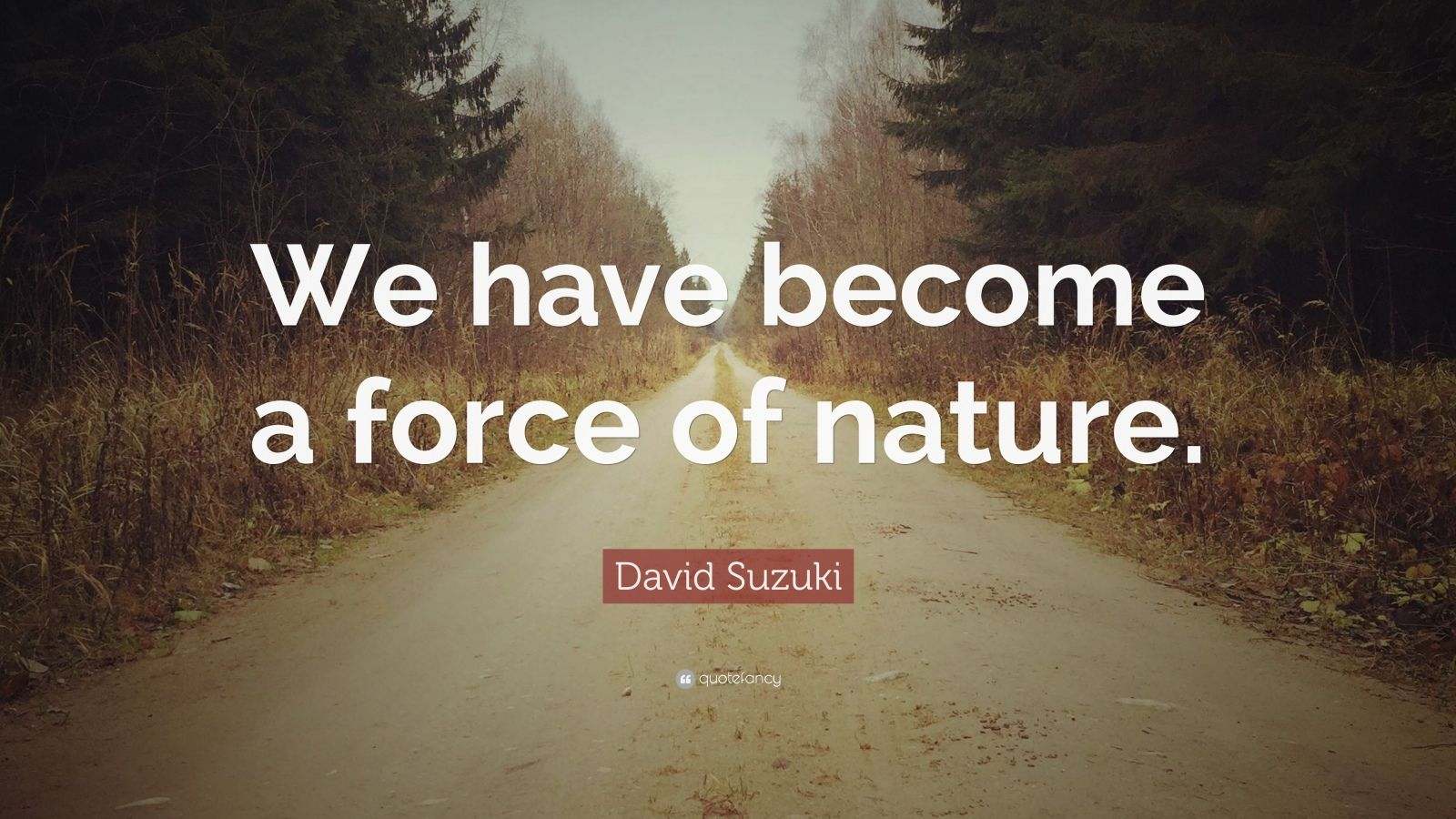 "David Suzuki Quote: ""We have become a force of nature."""