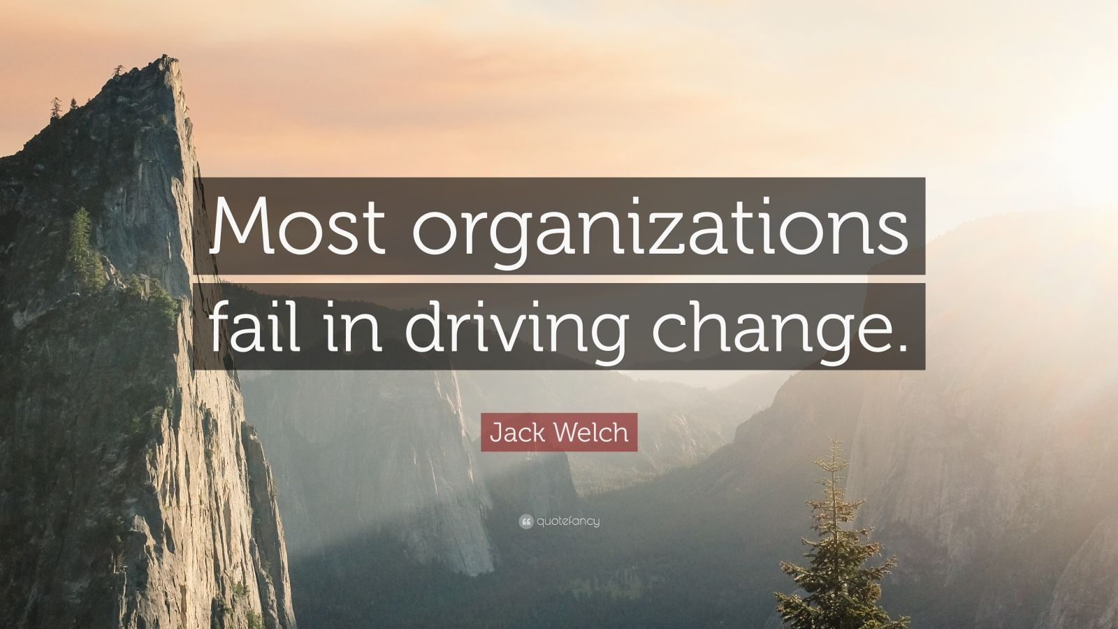 "Jack Welch Quote: ""Most organizations fail in driving change."""