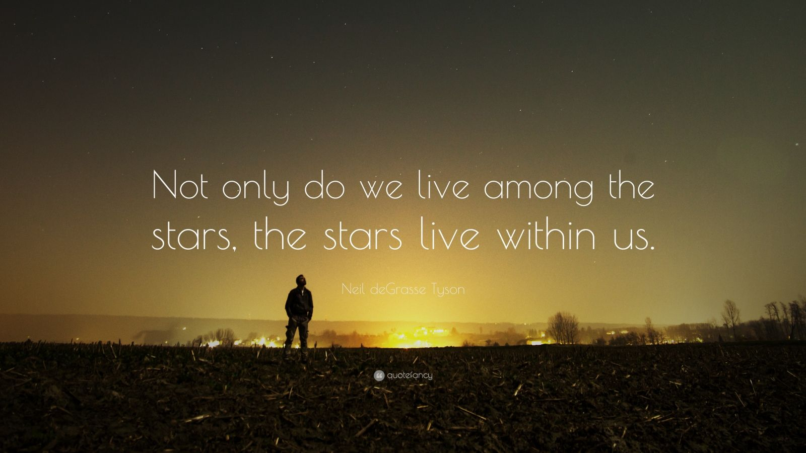 "Neil deGrasse Tyson Quote: ""Not only do we live among the stars, the stars live within us."""