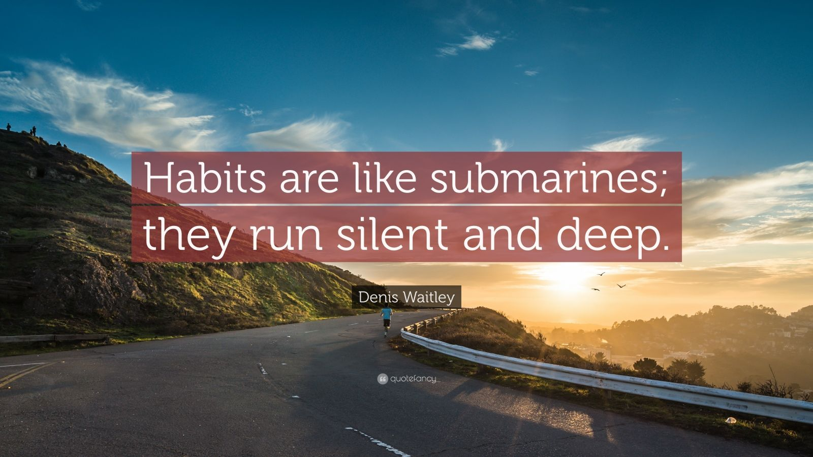 "Denis Waitley Quote: ""Habits are like submarines; they run silent and deep."""