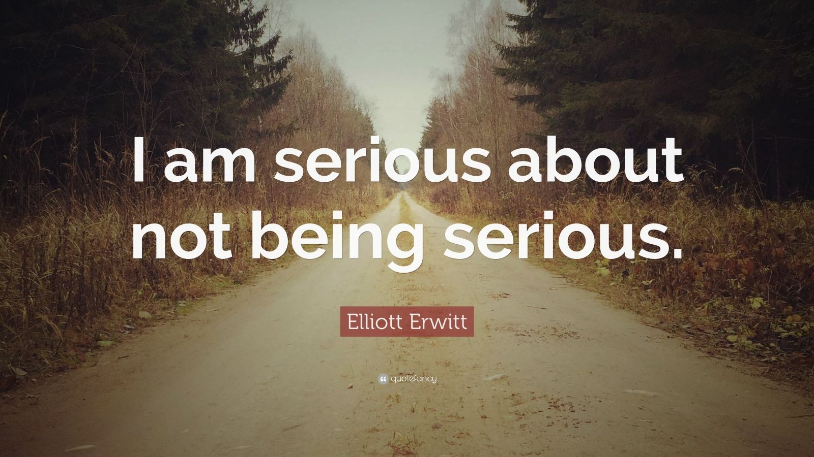 """Elliott Erwitt Quote: """"I am serious about not being serious."""""""