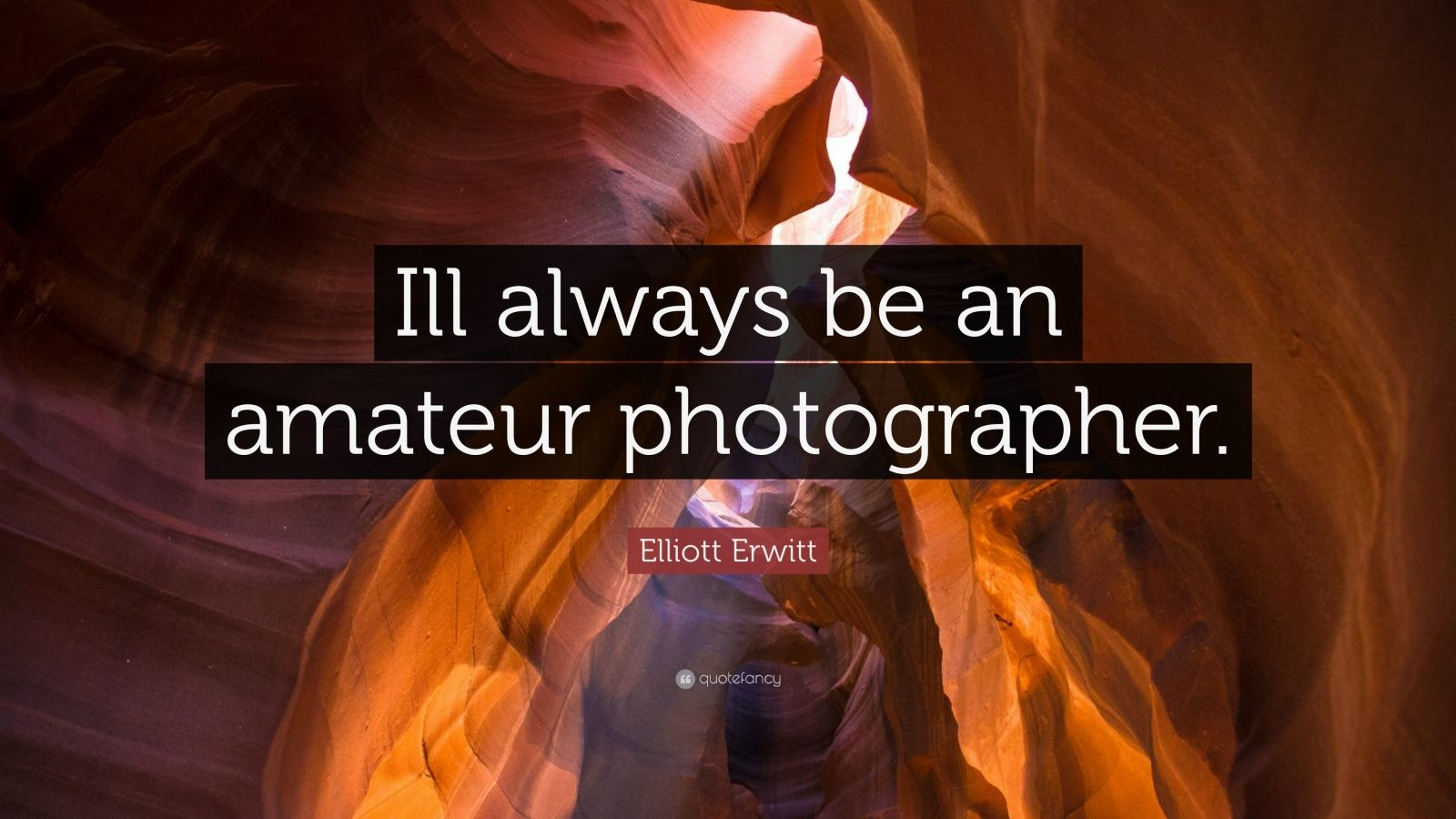 "Elliott Erwitt Quote: ""Ill always be an amateur photographer."""