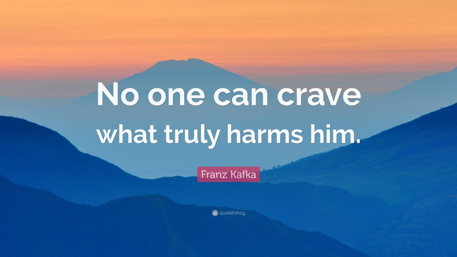 "Franz Kafka Quote: ""No one can crave what truly harms him."""