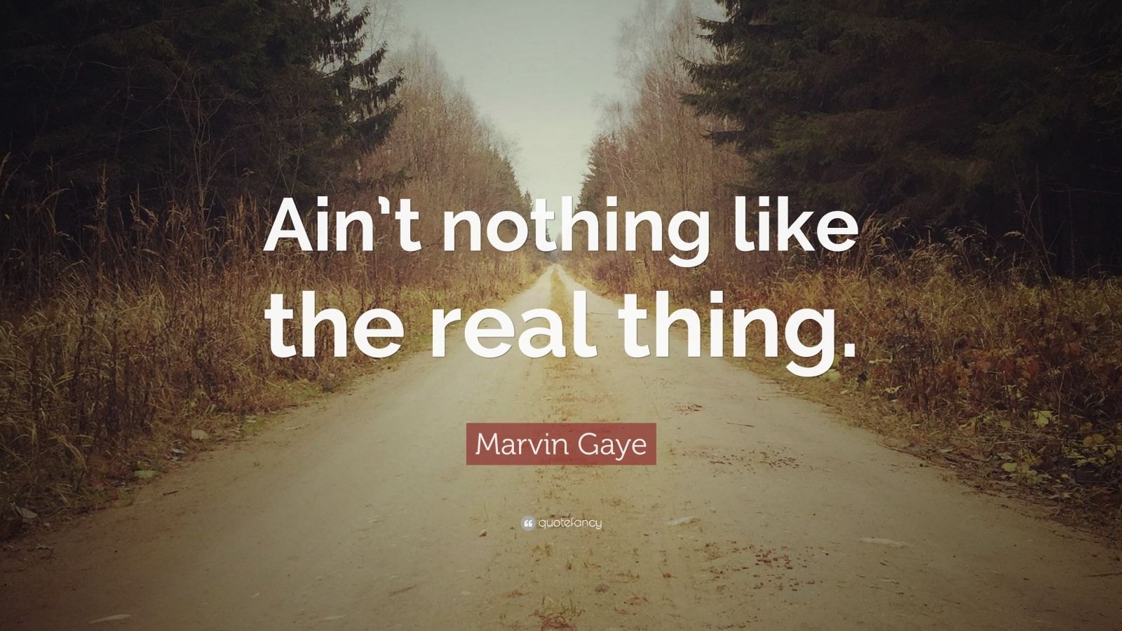 """Marvin Gaye Quote: """"Ain't nothing like the real thing."""""""