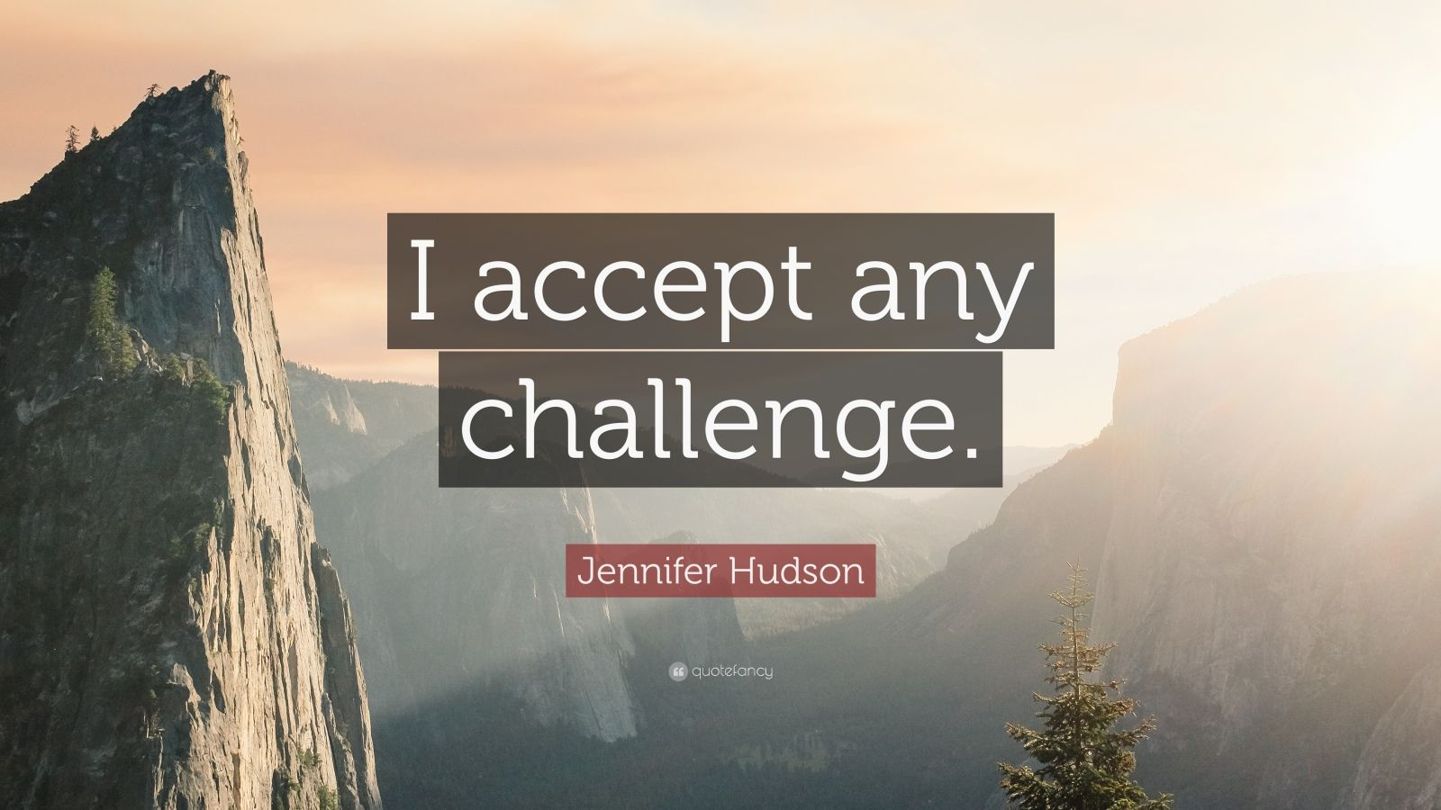 "Jennifer Hudson Quote: ""I accept any challenge."""