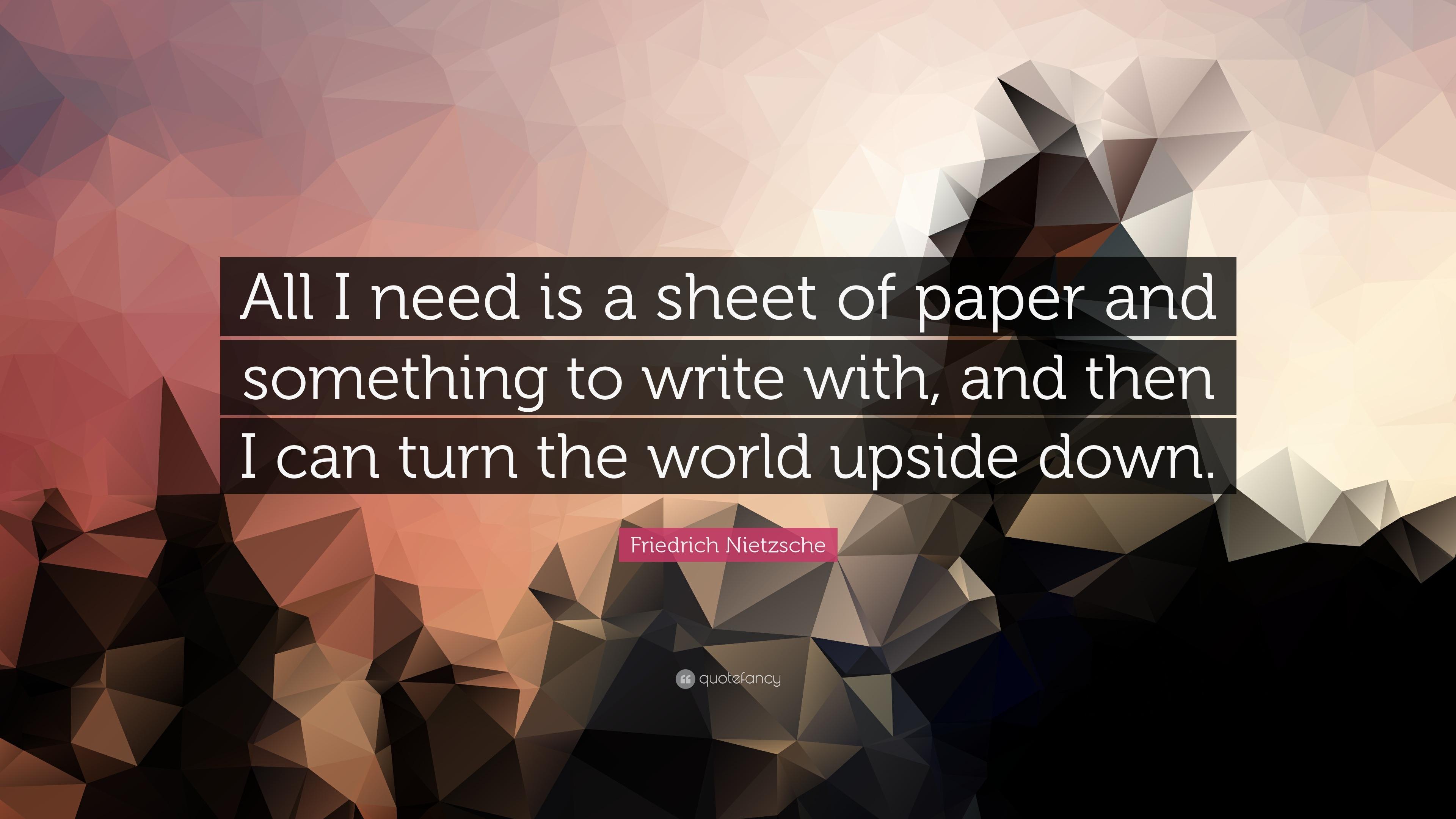 I need paper