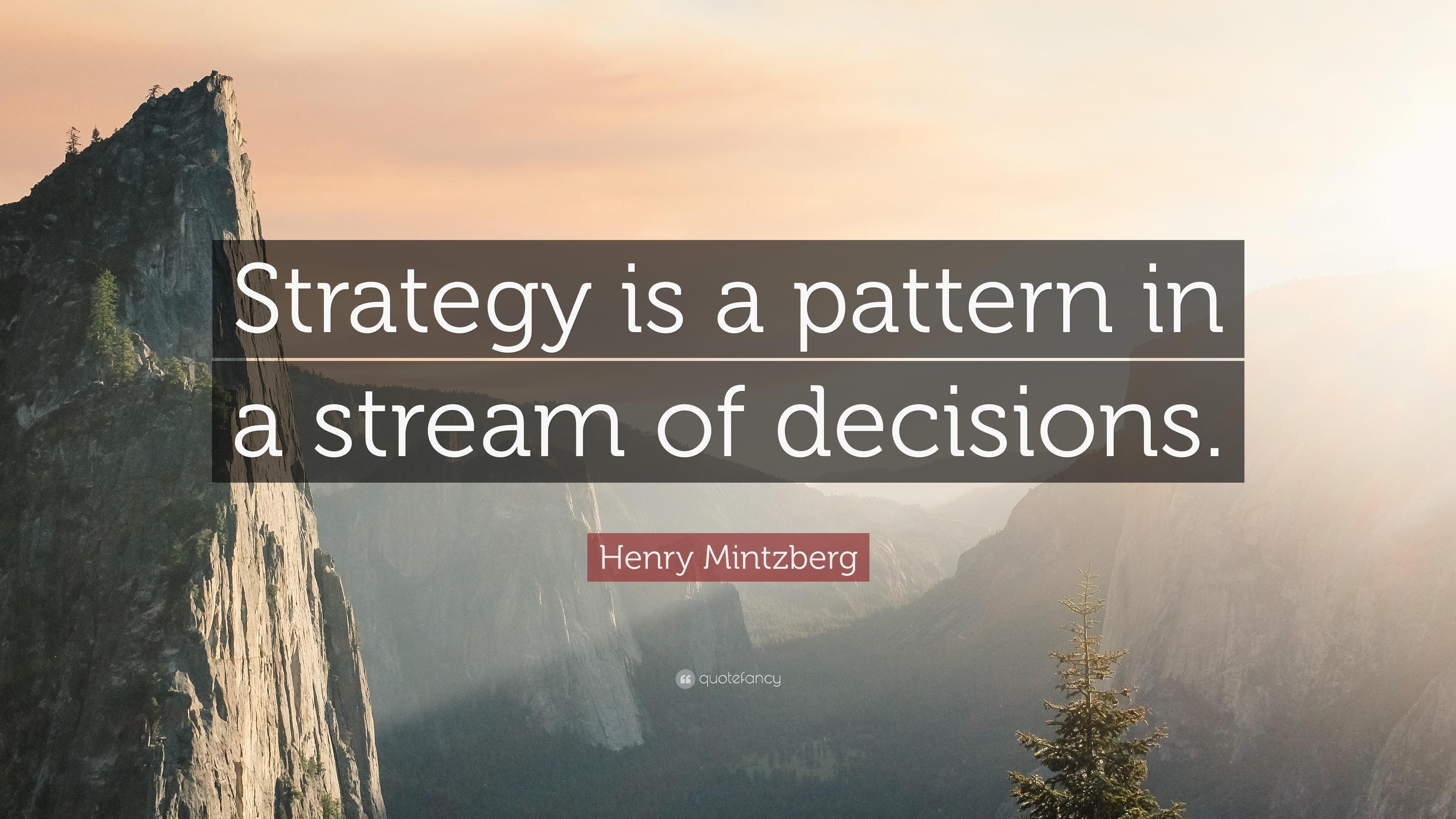 Mintzberg modes of strategic decision