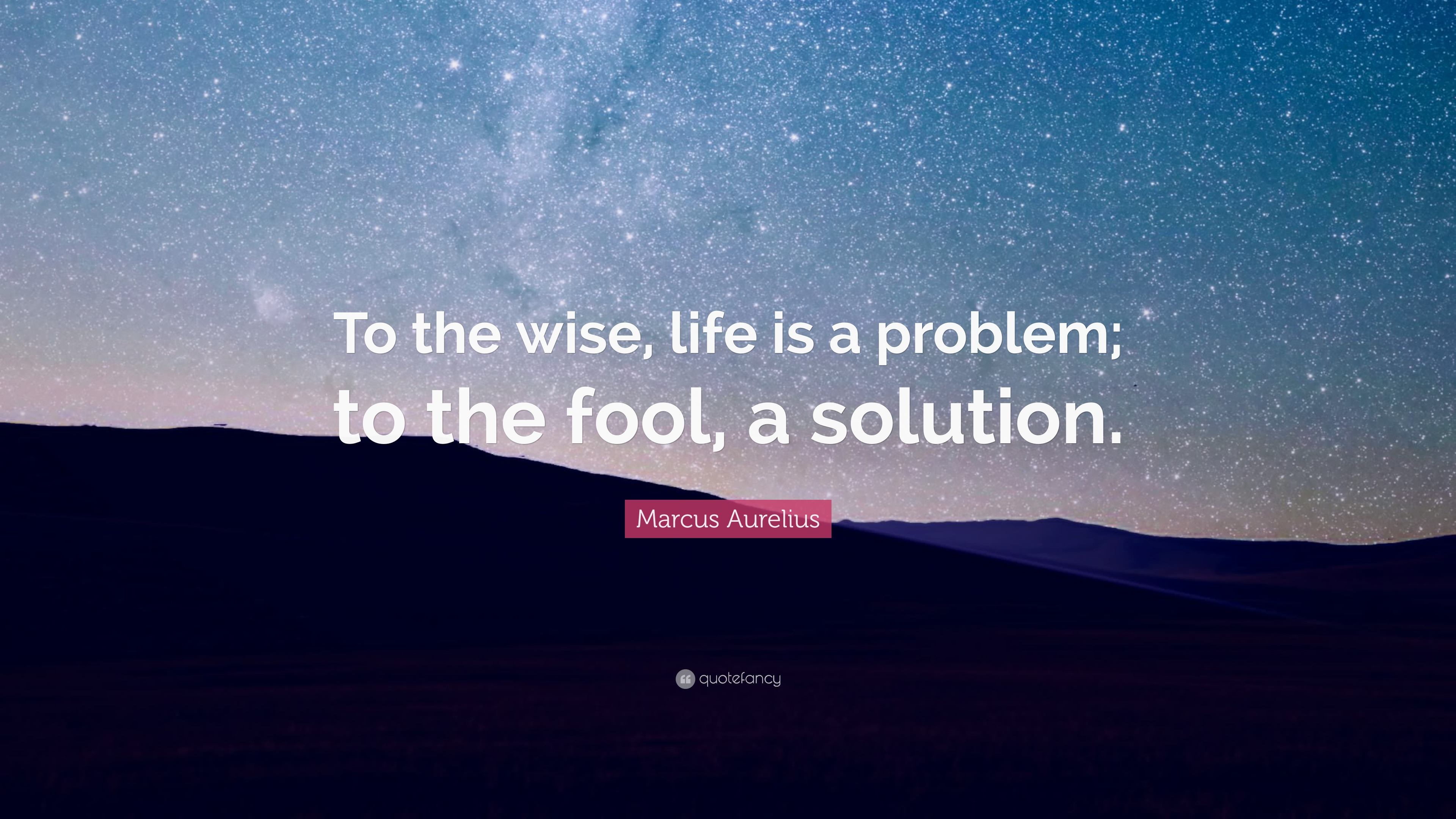 "Wise Life Quotes Marcus Aurelius Quote ""To The Wise Life Is A Problem To The"