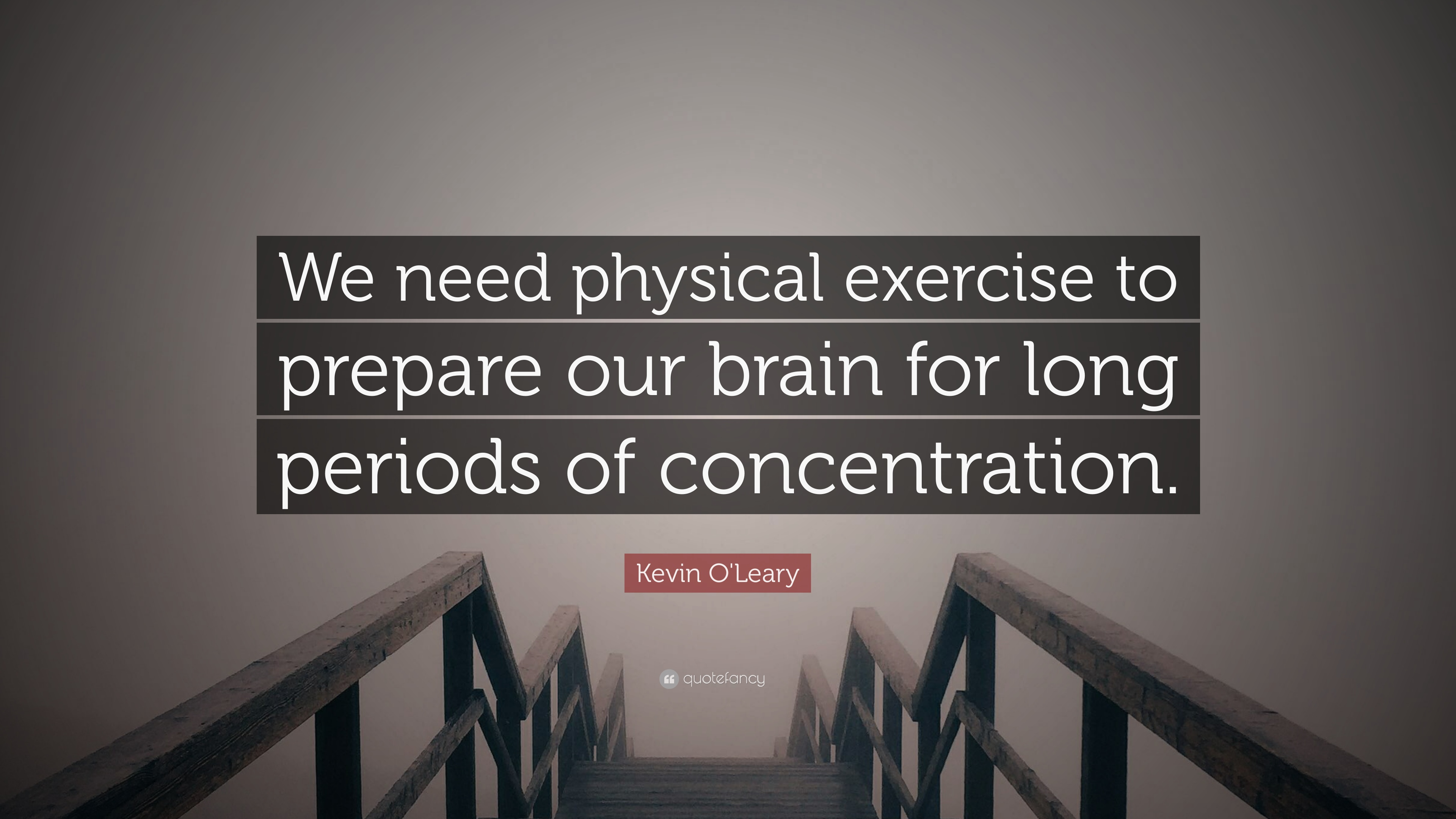 Kevin O Leary Quote We Need Physical Exercise To Prepare Our Brain For Long Periods Of Concentration 7 Wallpapers Quotefancy