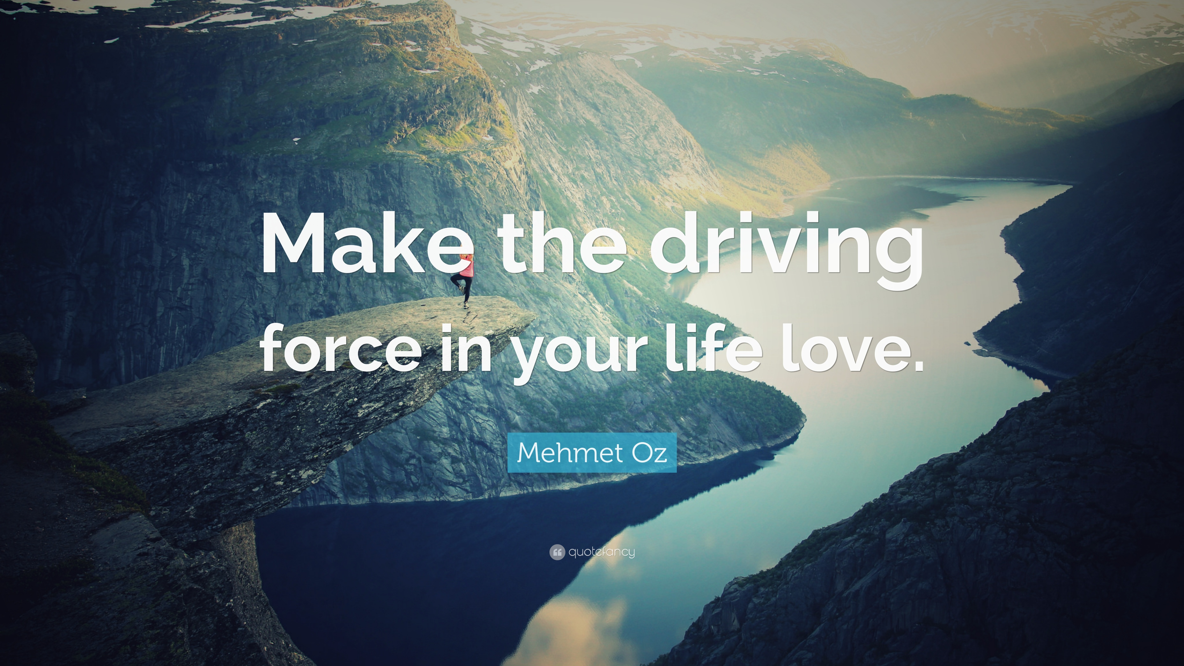 Mehmet Oz Quote Make The Driving Force In Your Life Love 7