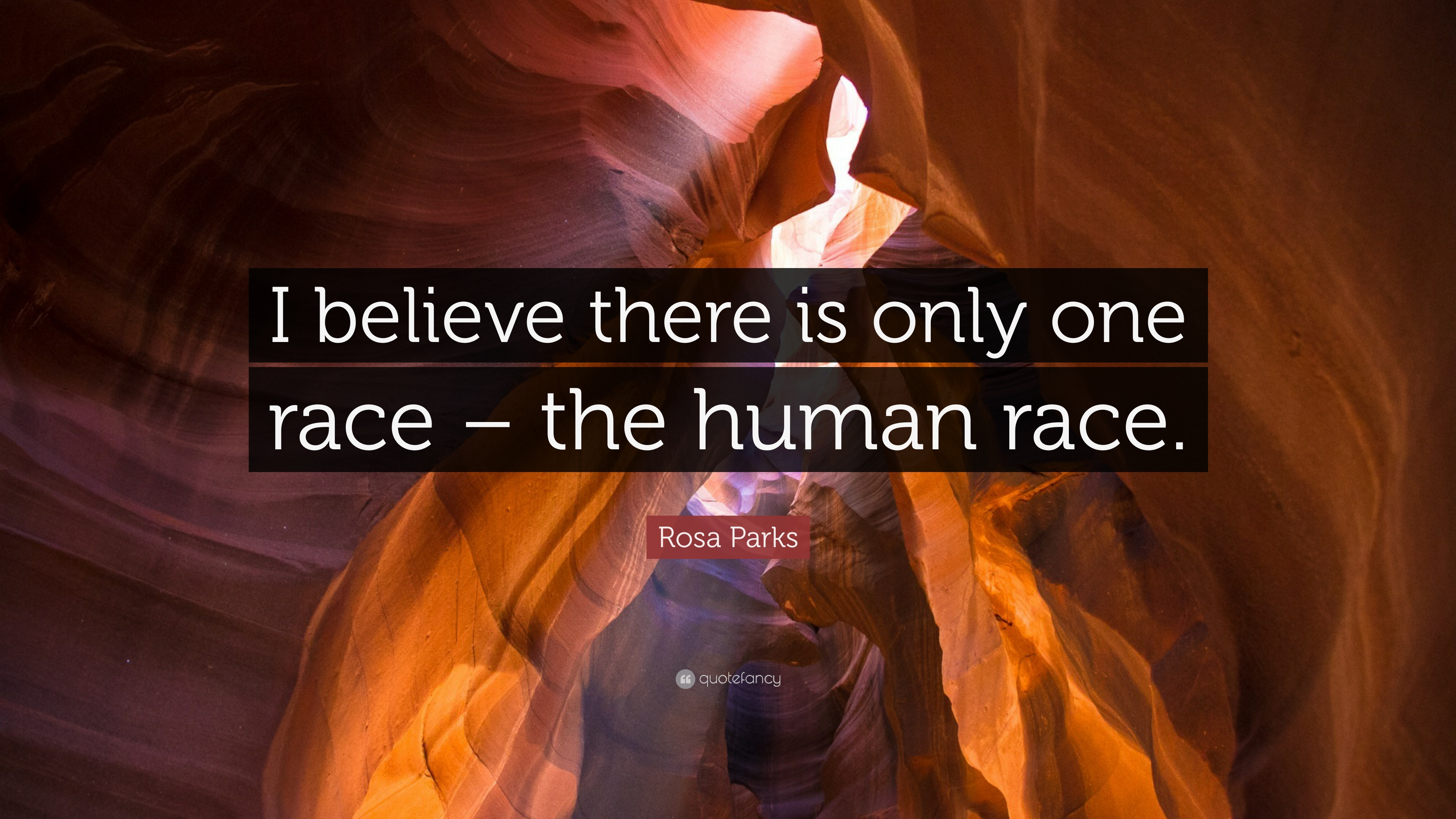 """Rosa Parks Quote: """"I Believe There Is Only One Race"""