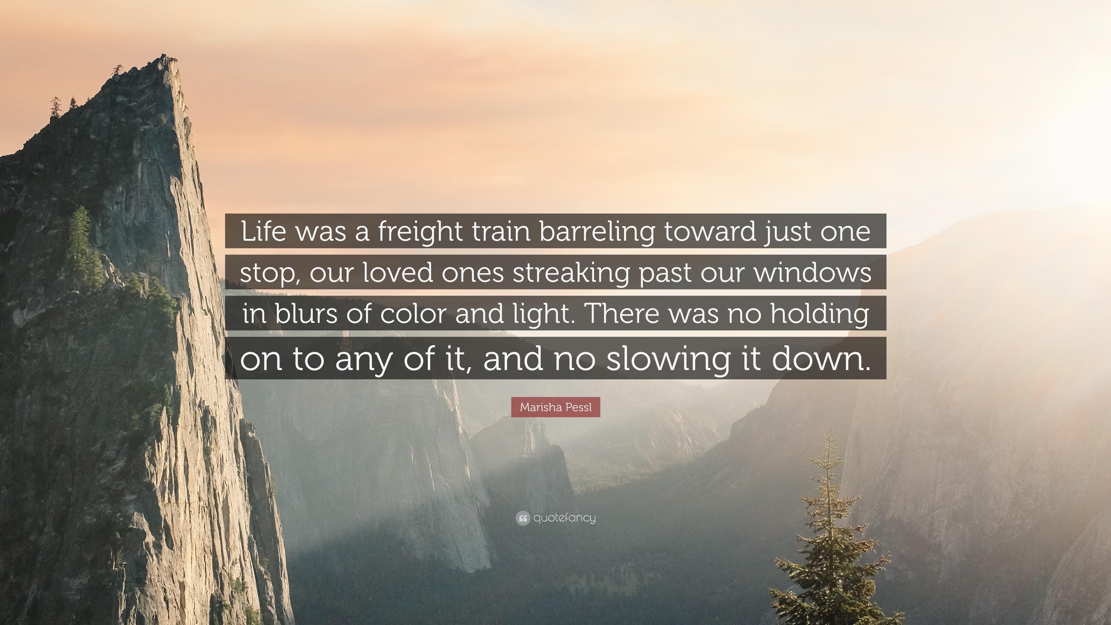 Marisha Pessl Quote Life Was A Freight Train Barreling Toward Just