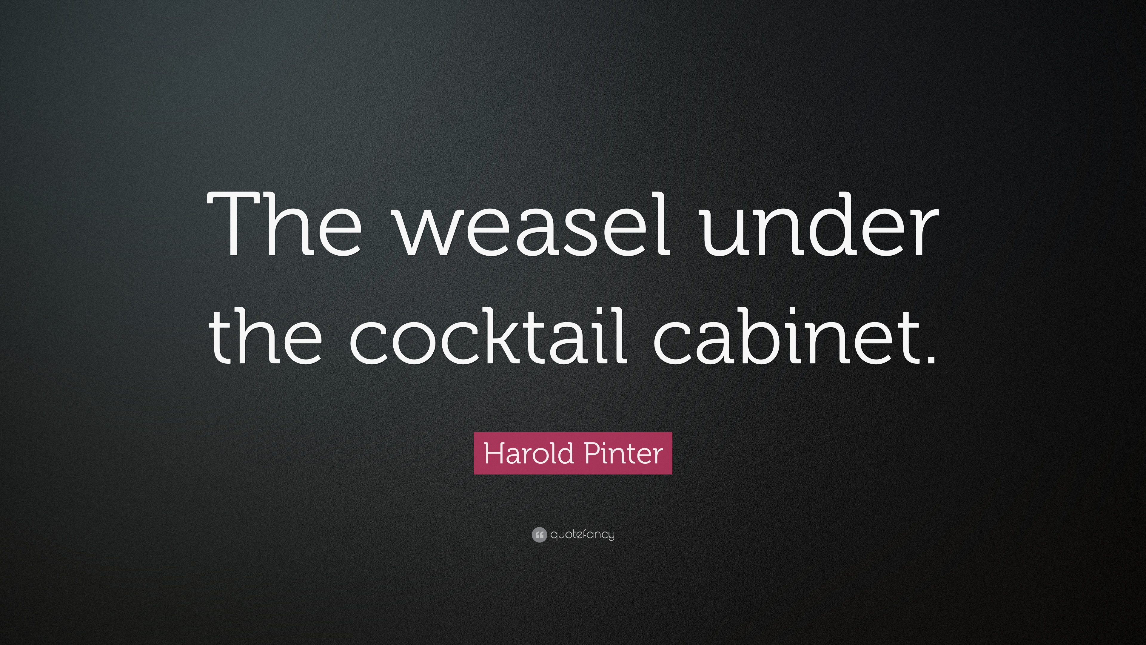 Harold Pinter Quote The Weasel Under The Cocktail Cabinet 7