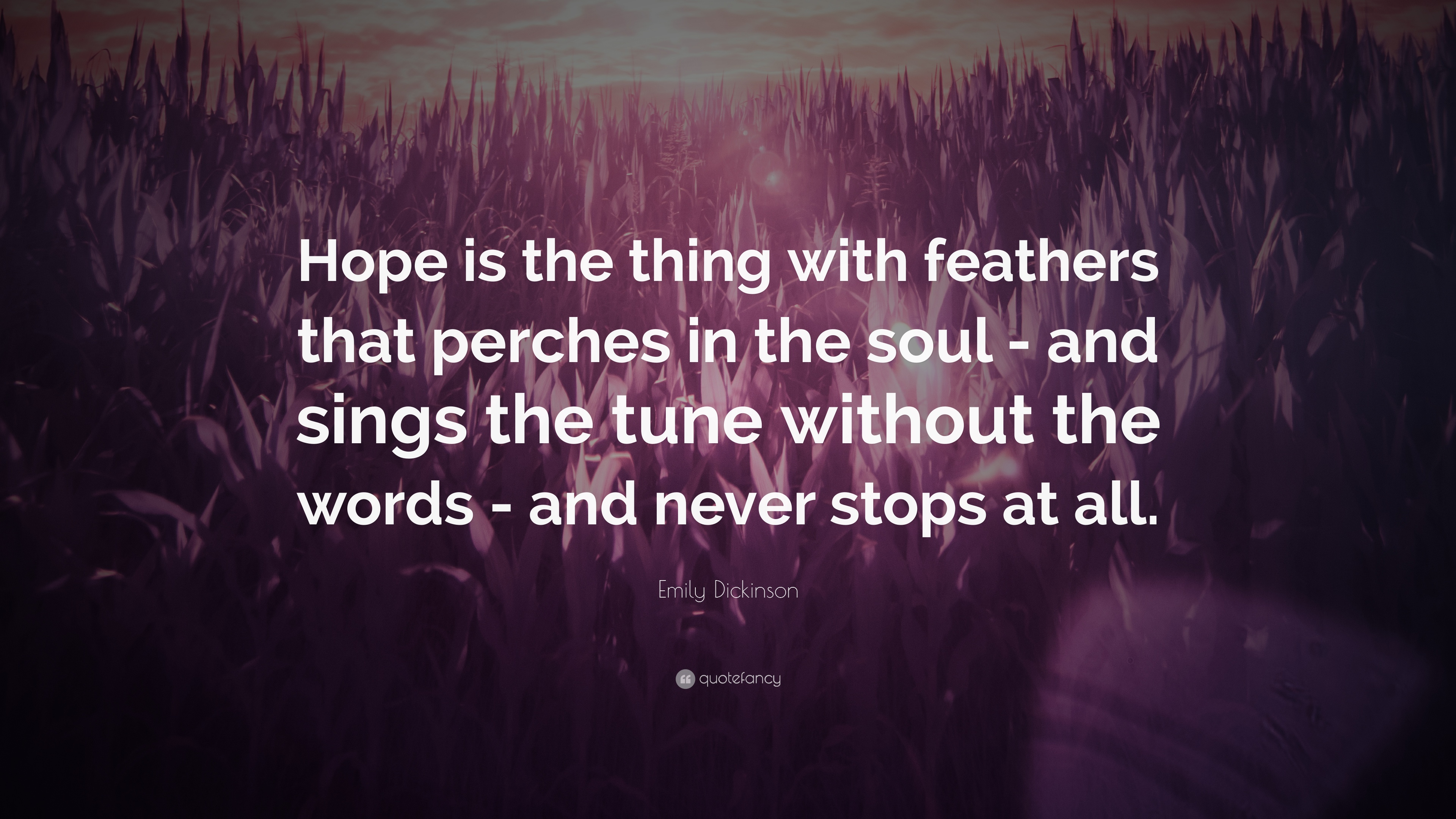 """Hope"" Is the Thing with Feathers: Emily Dickinson"