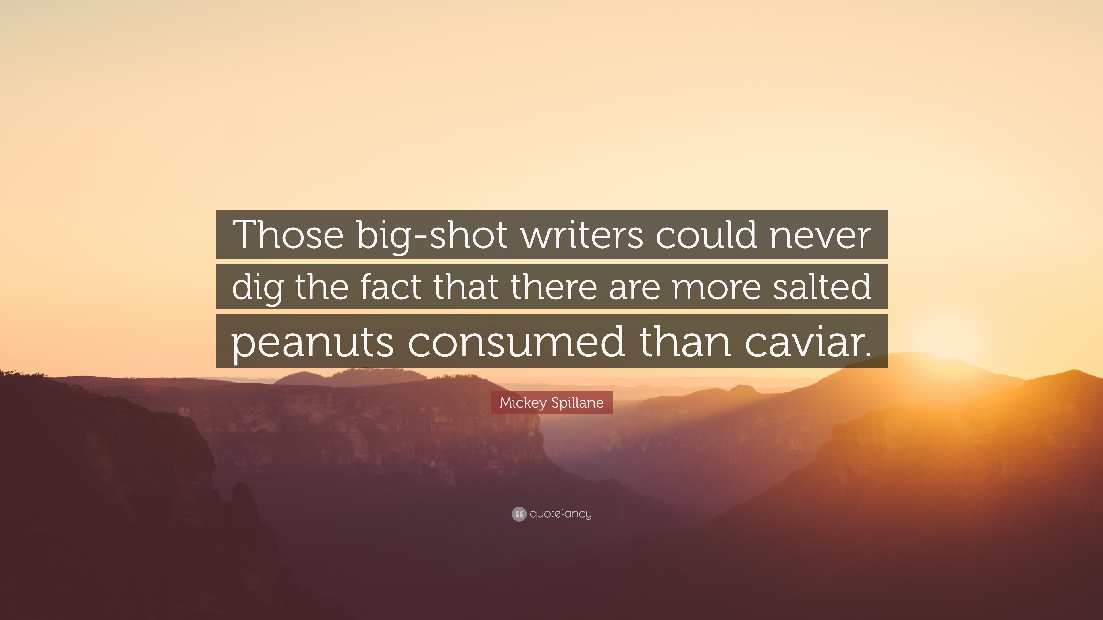 Mickey Spillane Quote Those Big Shot Writers Could Never Dig The