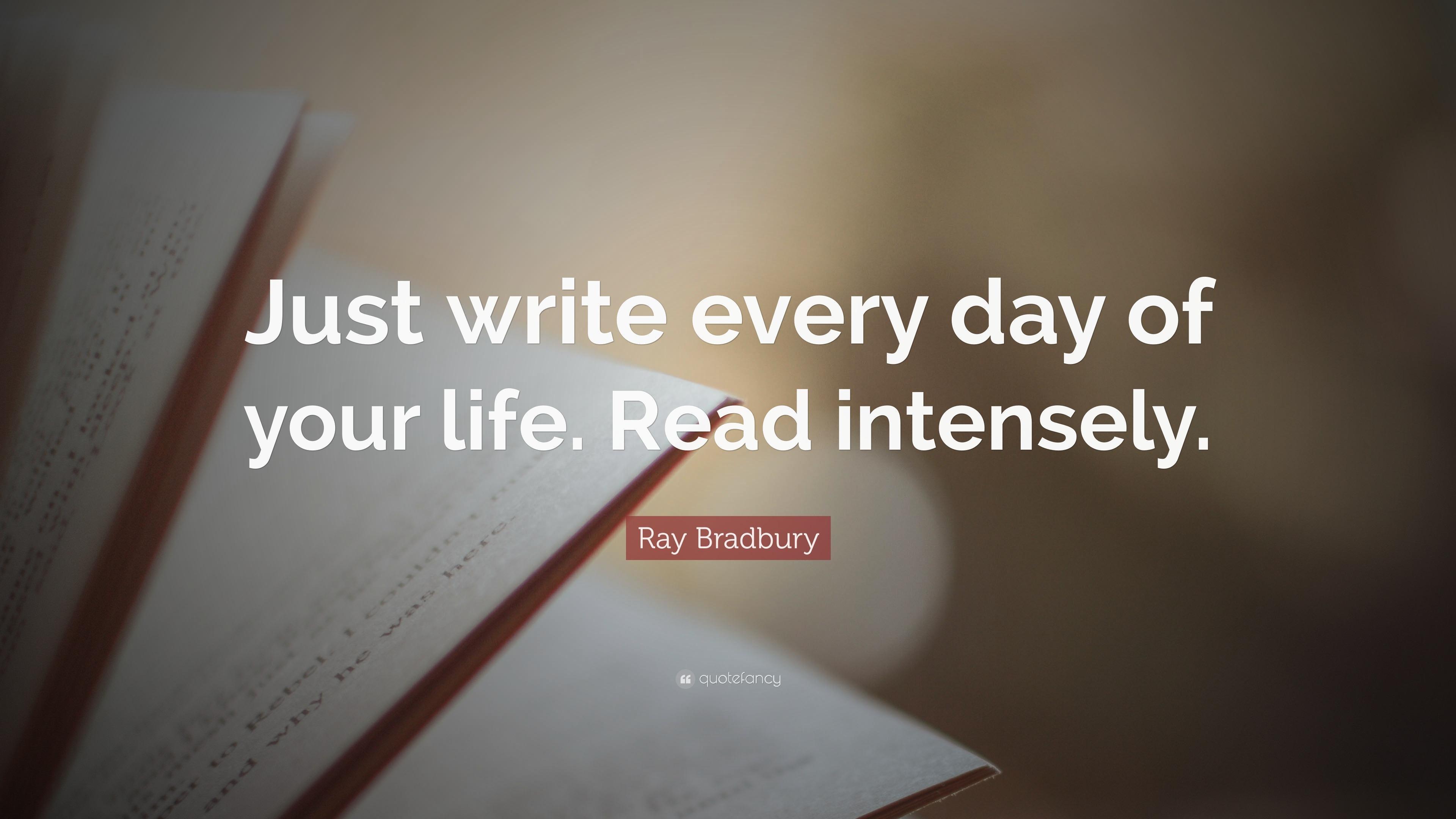 ray bradbury says read!!! Personal background american novelist, short-story writer, essayist, playwright, screenwriter, and poet — ray bradbury was born in waukegan, illinois on august 22, 1920, the third son of leonard spaulding bradbury and esther marie moberg bradbury.