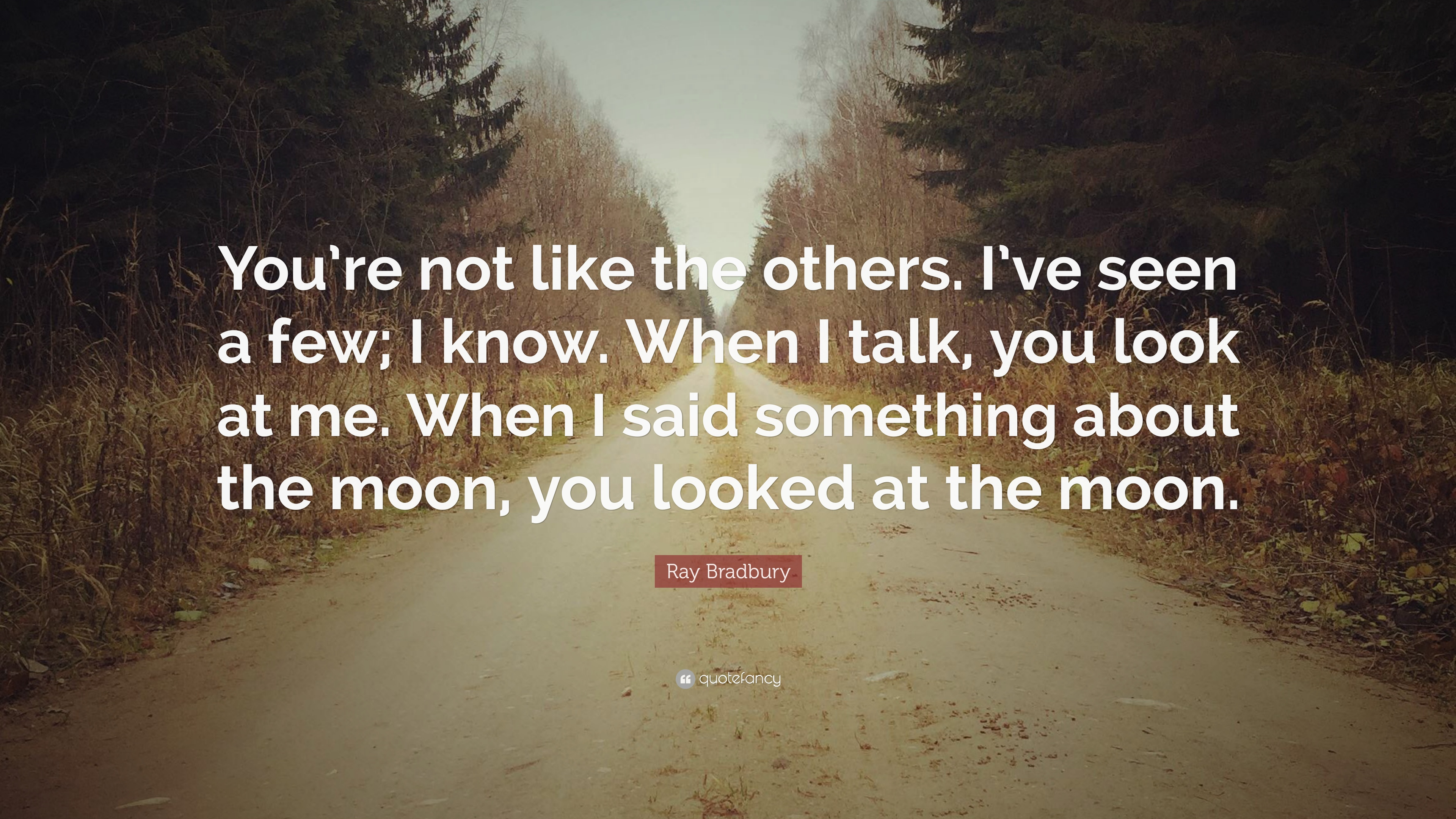 Ray Bradbury Quote Youre Not Like The Others Ive Seen A Few I