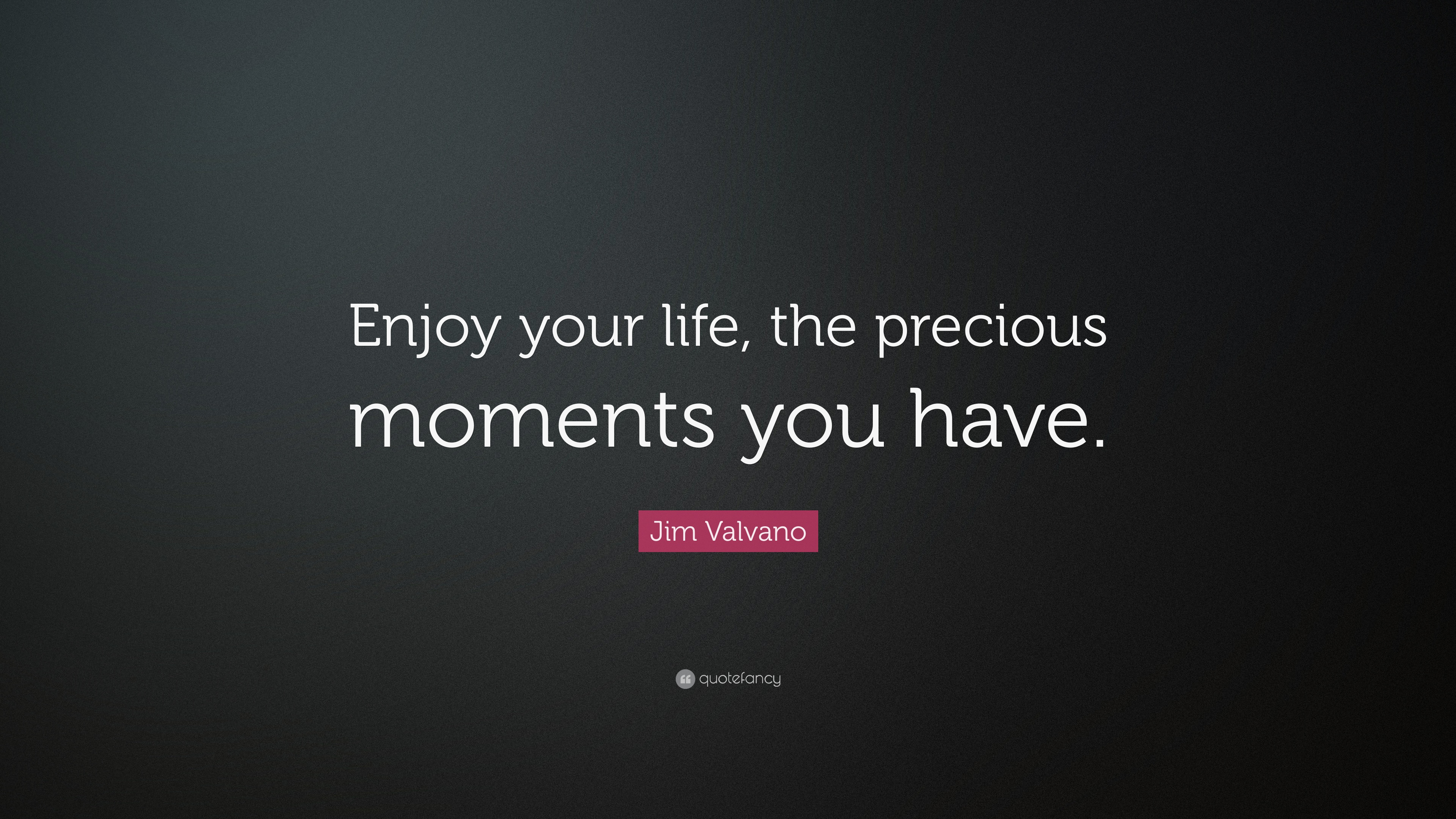 "Life Is Precious Quotes Prepossessing Jim Valvano Quote ""Enjoy Your Life The Precious Moments You Have"