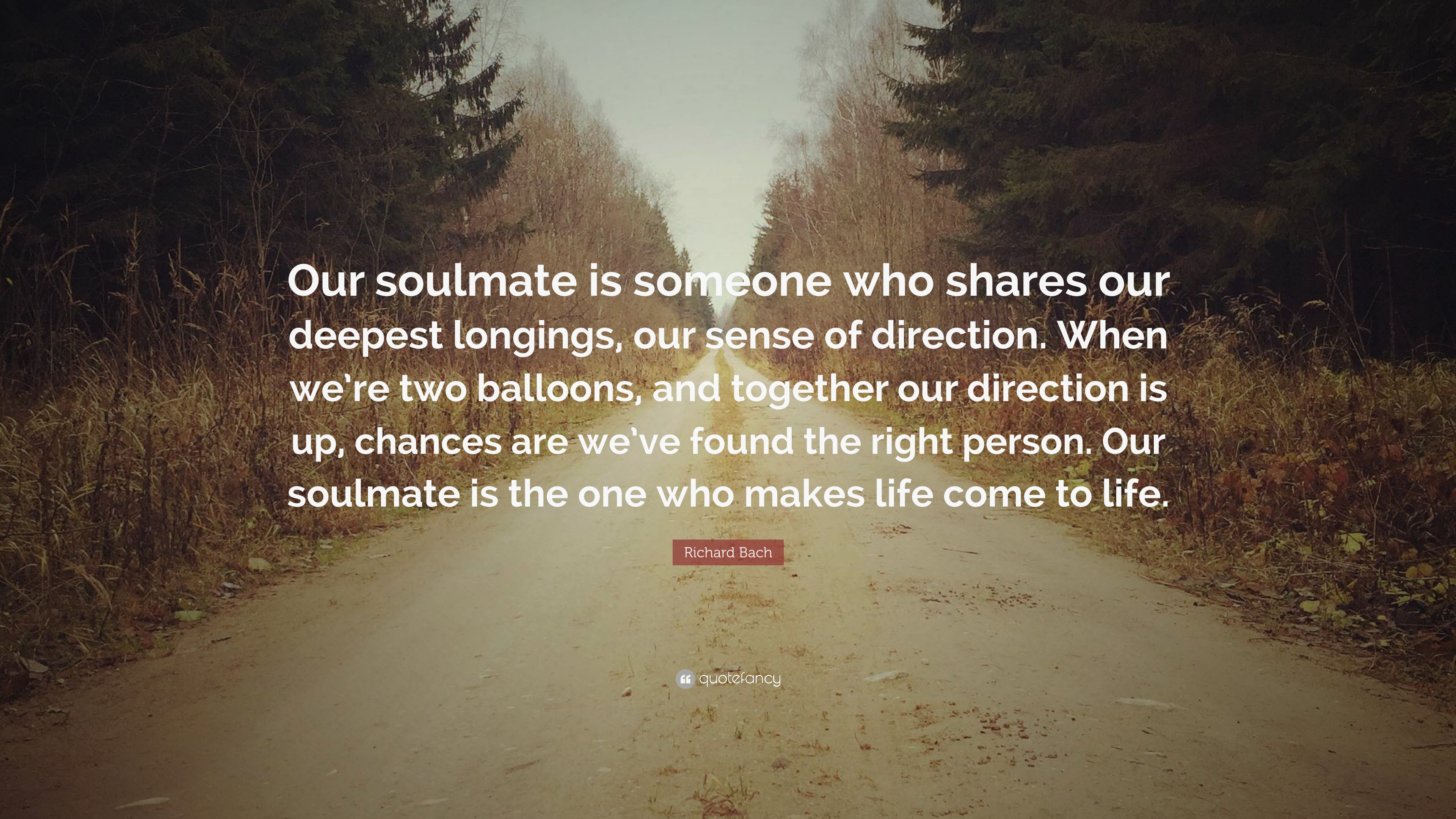 Richard Bach Quote Our Soulmate Is Someone Who Shares Our Deepest