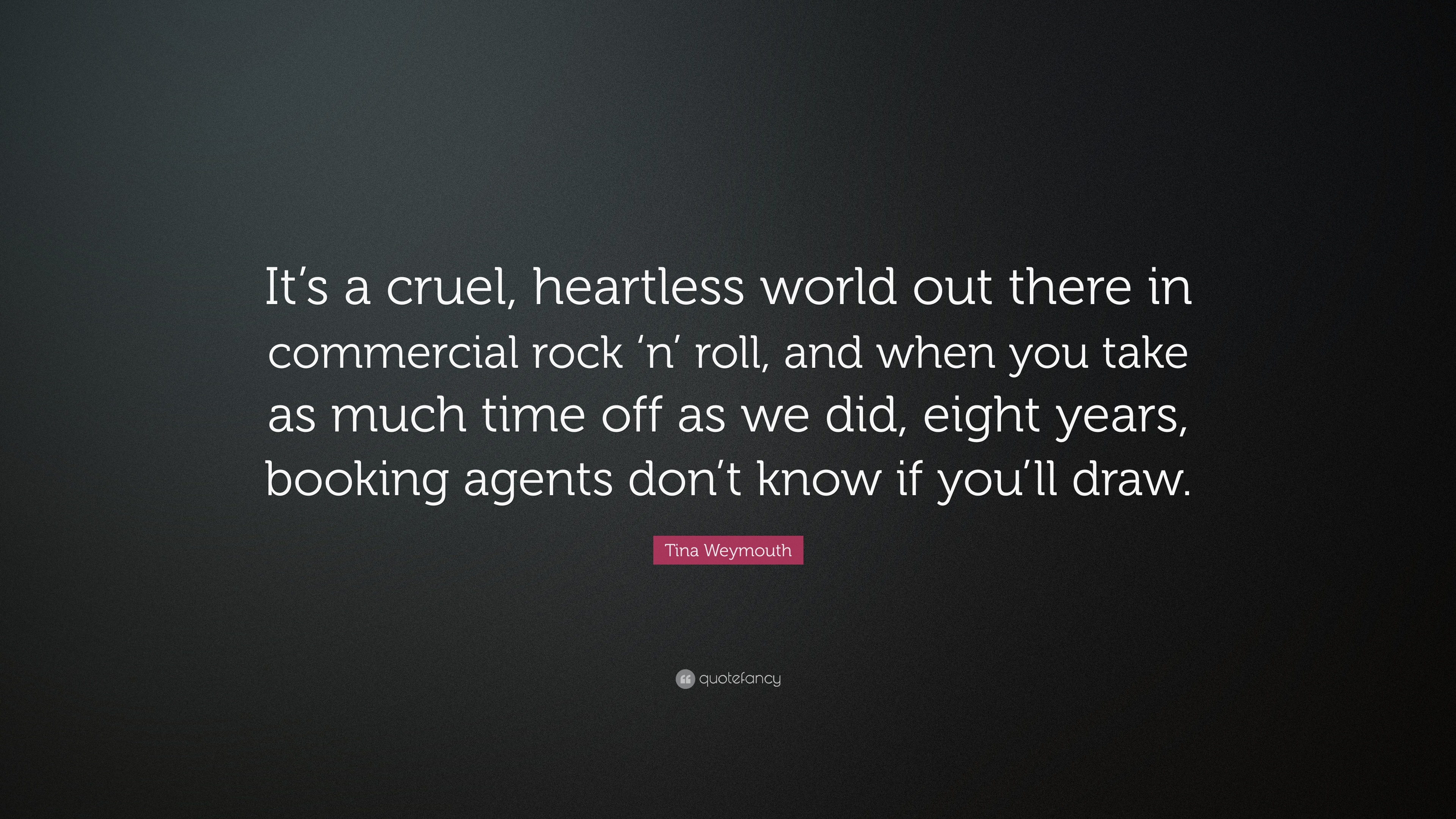Cruel World Quotes Best 105 Famous Quotes About Cruel: Tina Weymouth Quotes (31 Wallpapers)